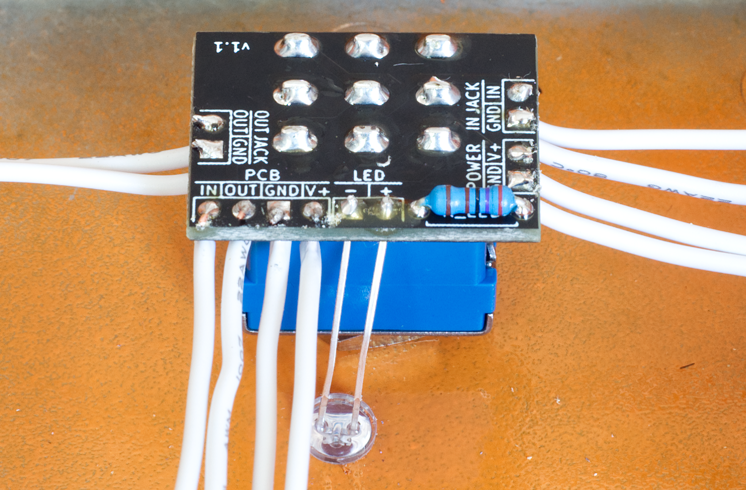 3PDT board wired to show direct, simple wiring