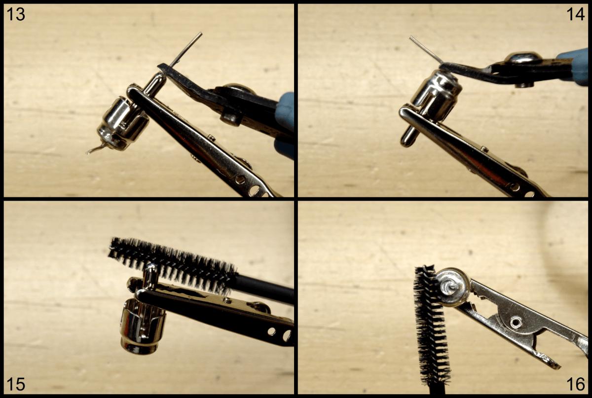 steps 13 through 16 of creating a shorting plug