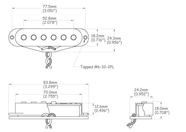 göldo Stoff-Kabel für Single Coil Pickups 1 Meter vintage cloth cable aged white