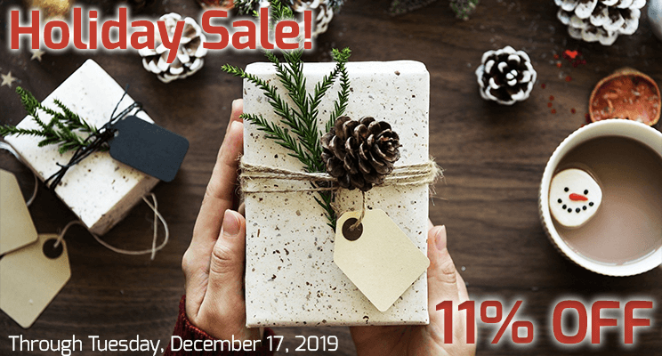 11% off Holiday Sale