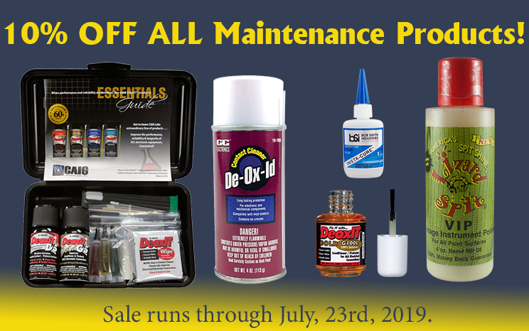 10% off all Maintenance Products