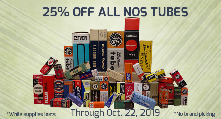 25% off all nos tubes