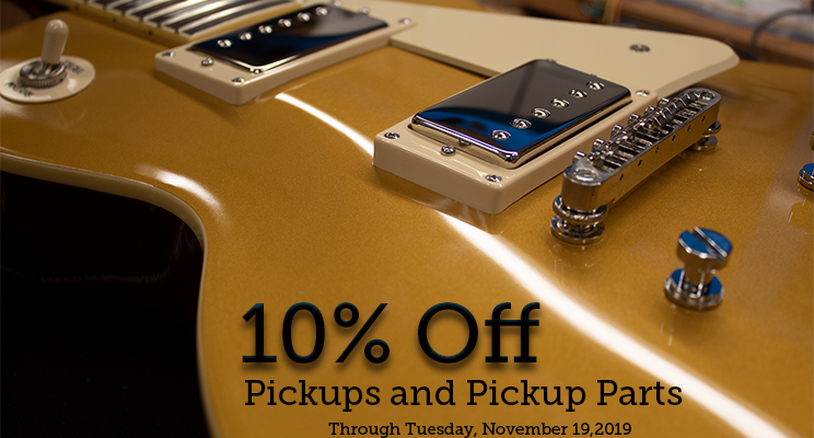 10% off pickups and parts