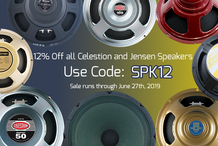 Save on Jensen and Celestion speakers