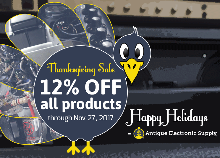 Thanksgiving sale: 12% off all products