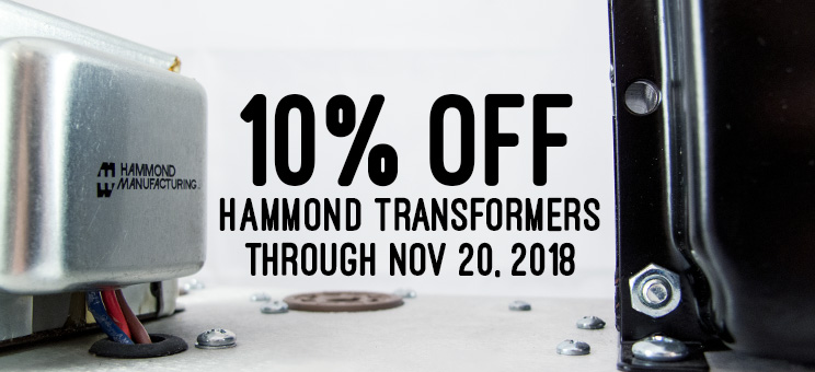 10% off all Hammond transformers