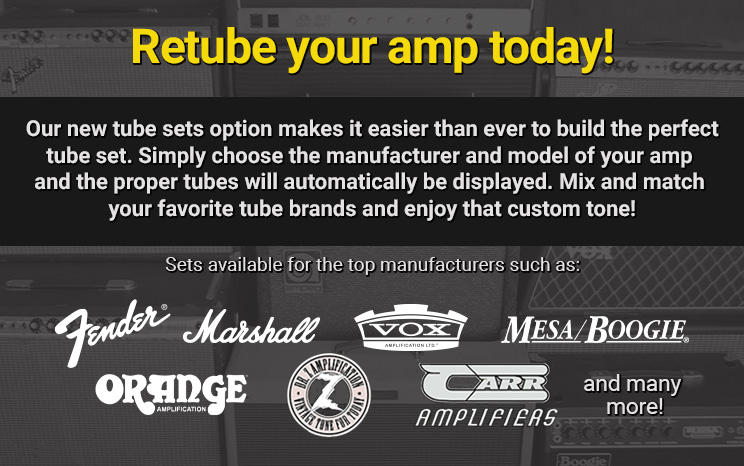 New Tube Sets Options