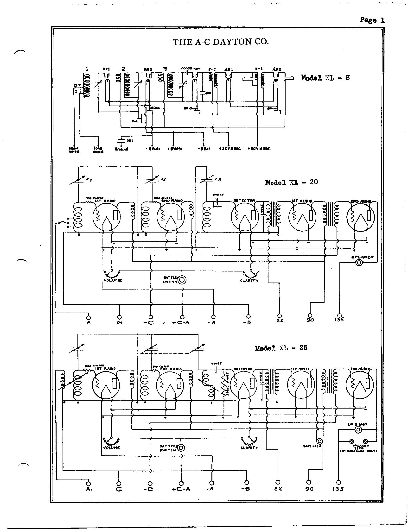 a-c dayton company xl20 schematic