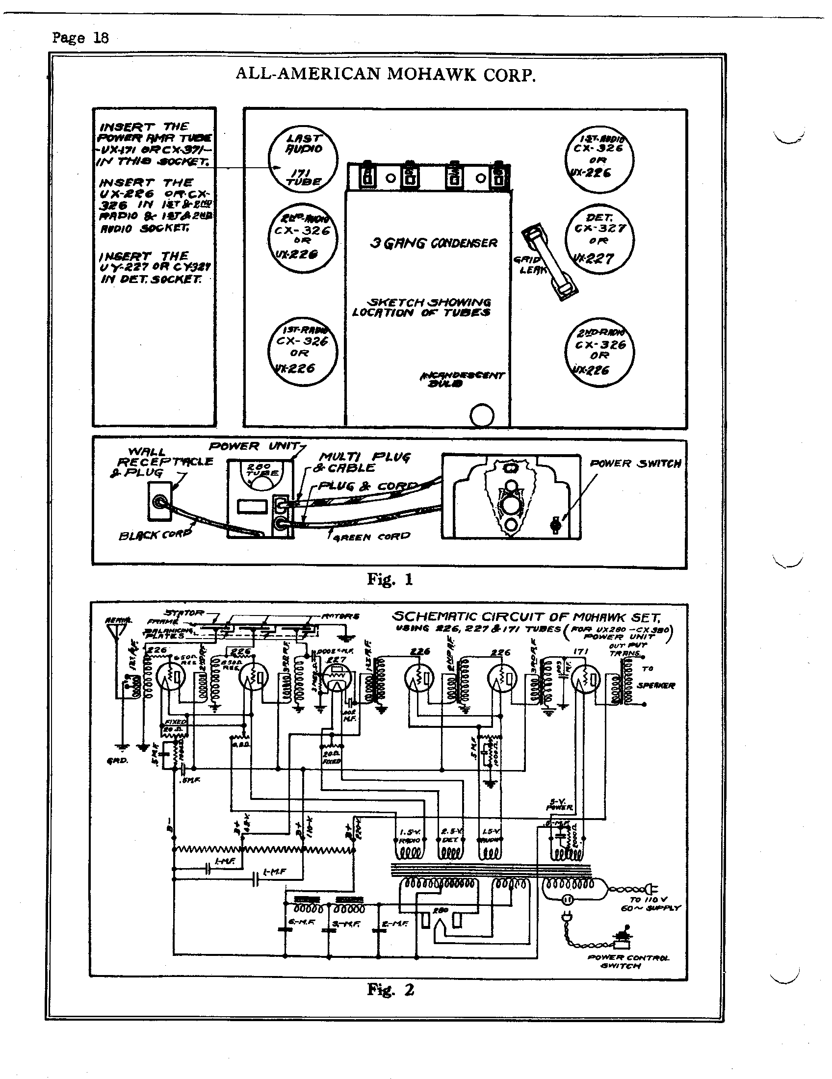 all american mohawk 6 8 tube ac power pack antique electronic supply Toyota Schematic Diagrams page 2 54 11 kb rider manual volume 1