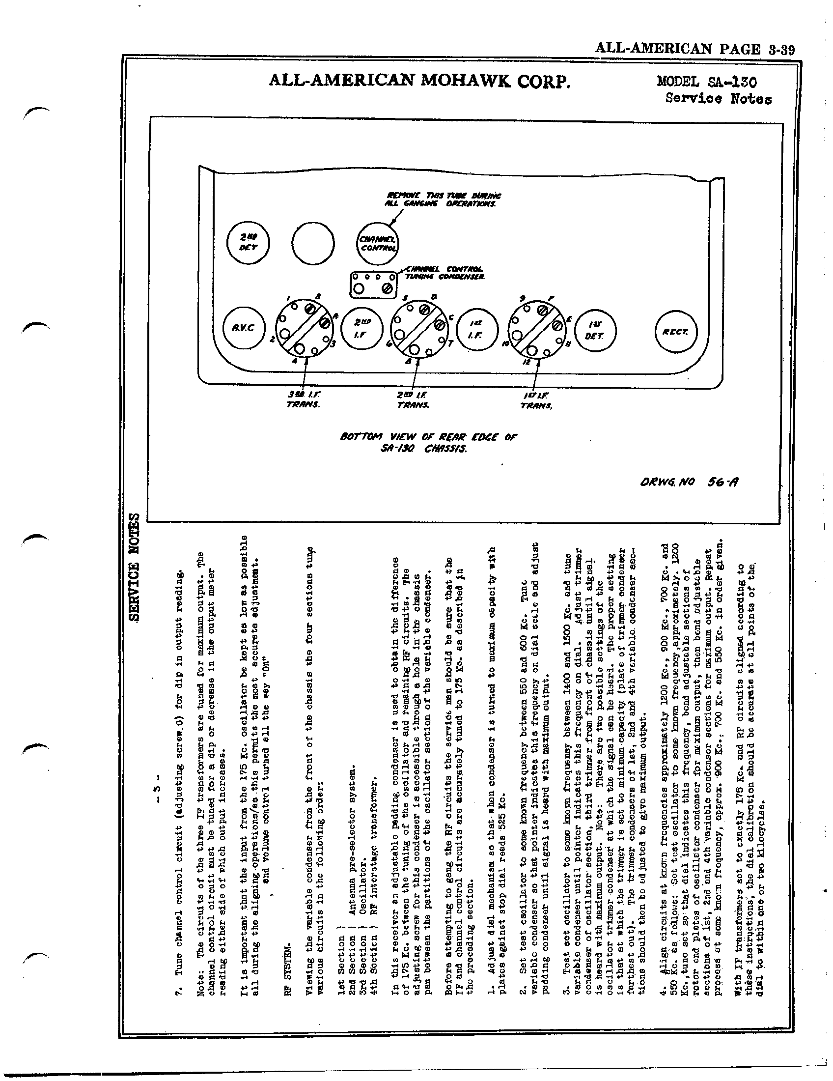 All American Mohawk Sa 130 Antique Electronic Supply Variable Frequency Oscillator Circuit Page 3 682 Kb Rider Manual Volume