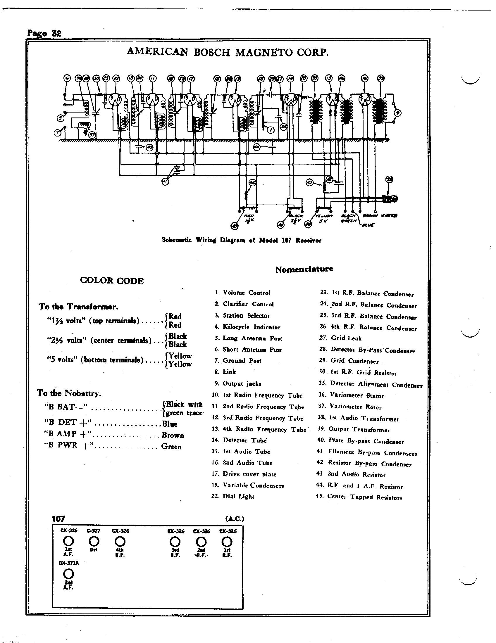 American Bosch 107