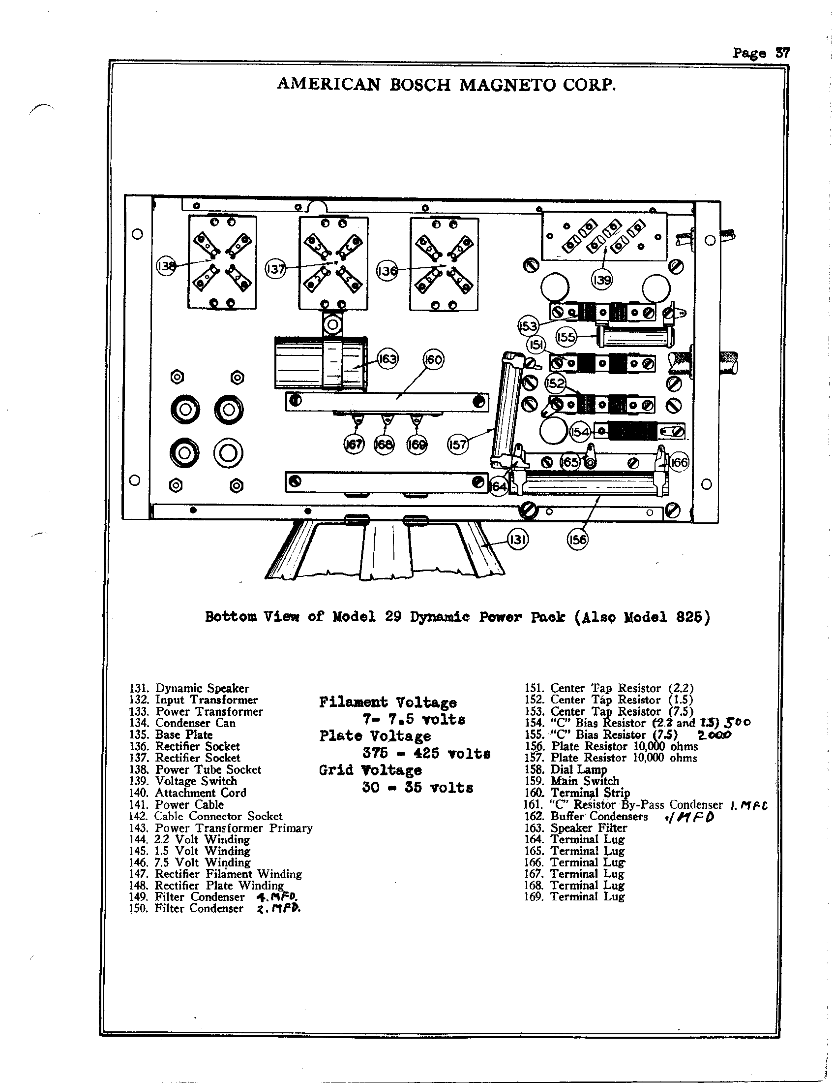 American Bosch 29 Antique Electronic Supply Tube Rectifier Schematic Further Power Lifier Schematics Page 3 517 Kb Rider Manual Volume 1