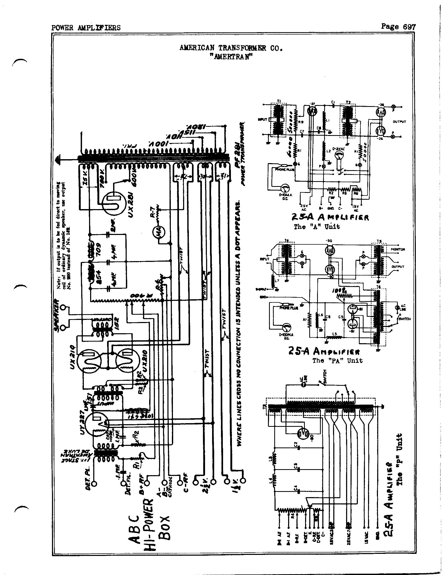 American Transformer Co Amertran Antique Electronic Supply