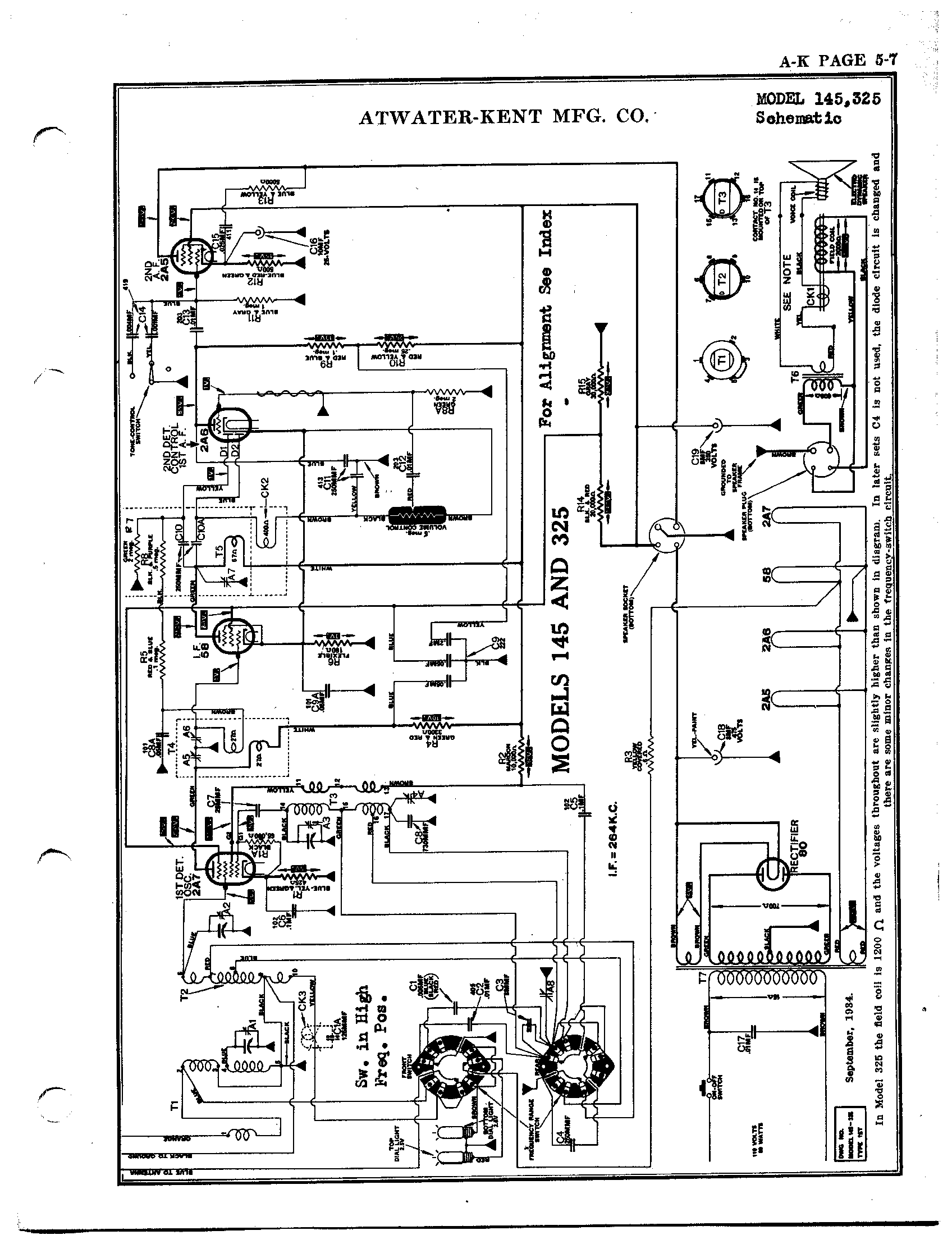 atwater kent 325 schematic