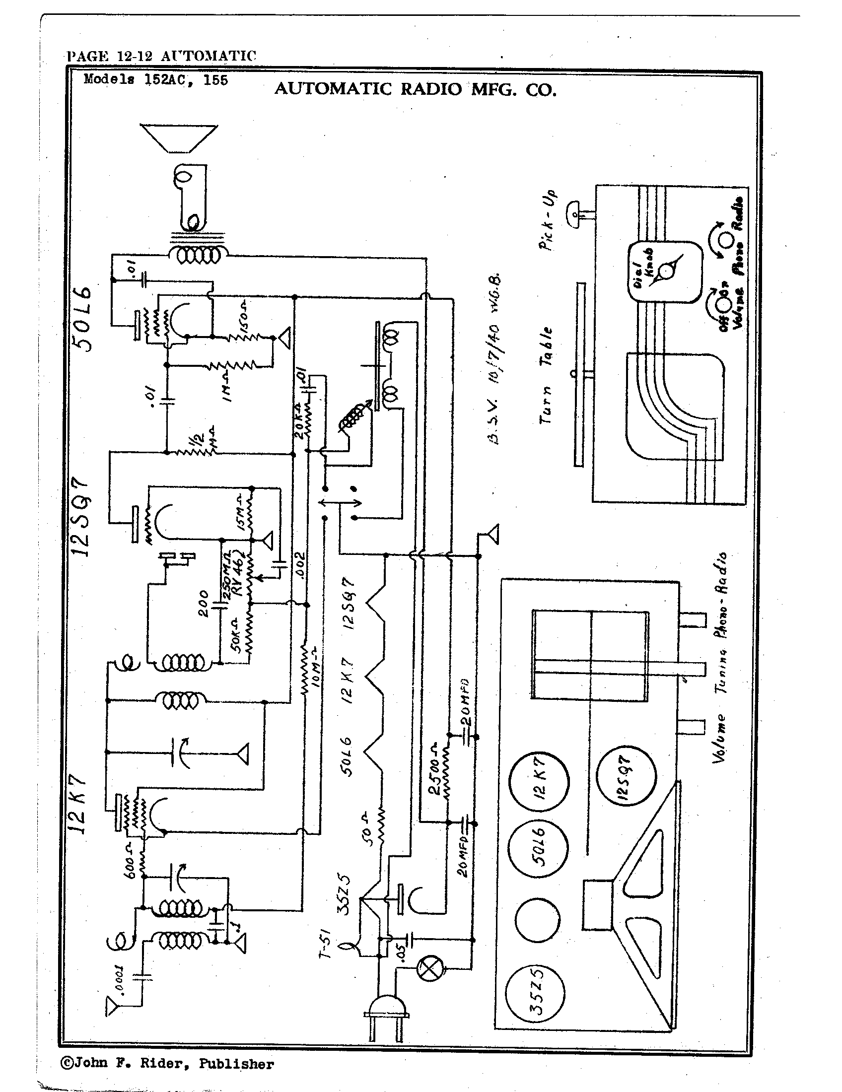 automatic radio mfg  co  155