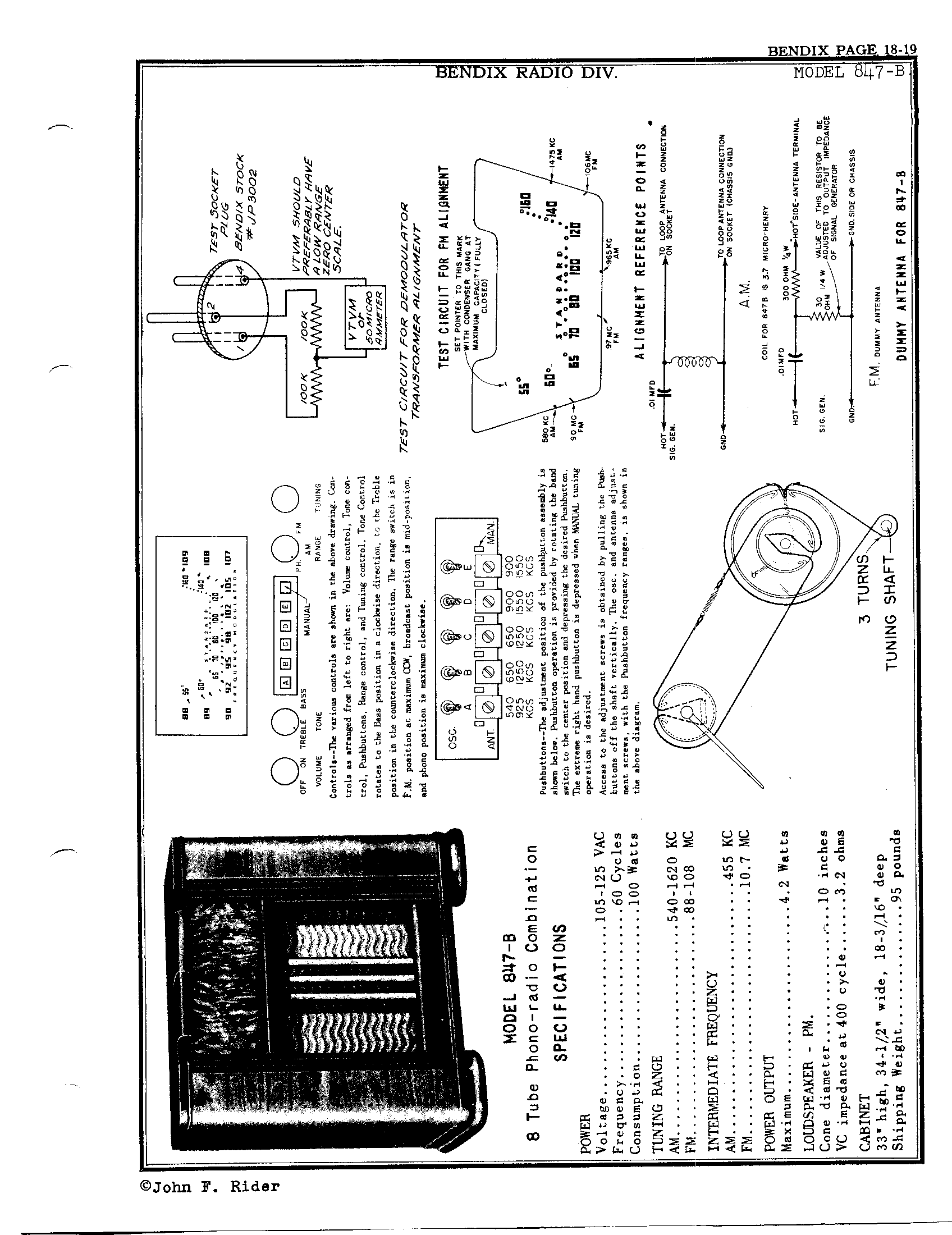 bendix radio div  847