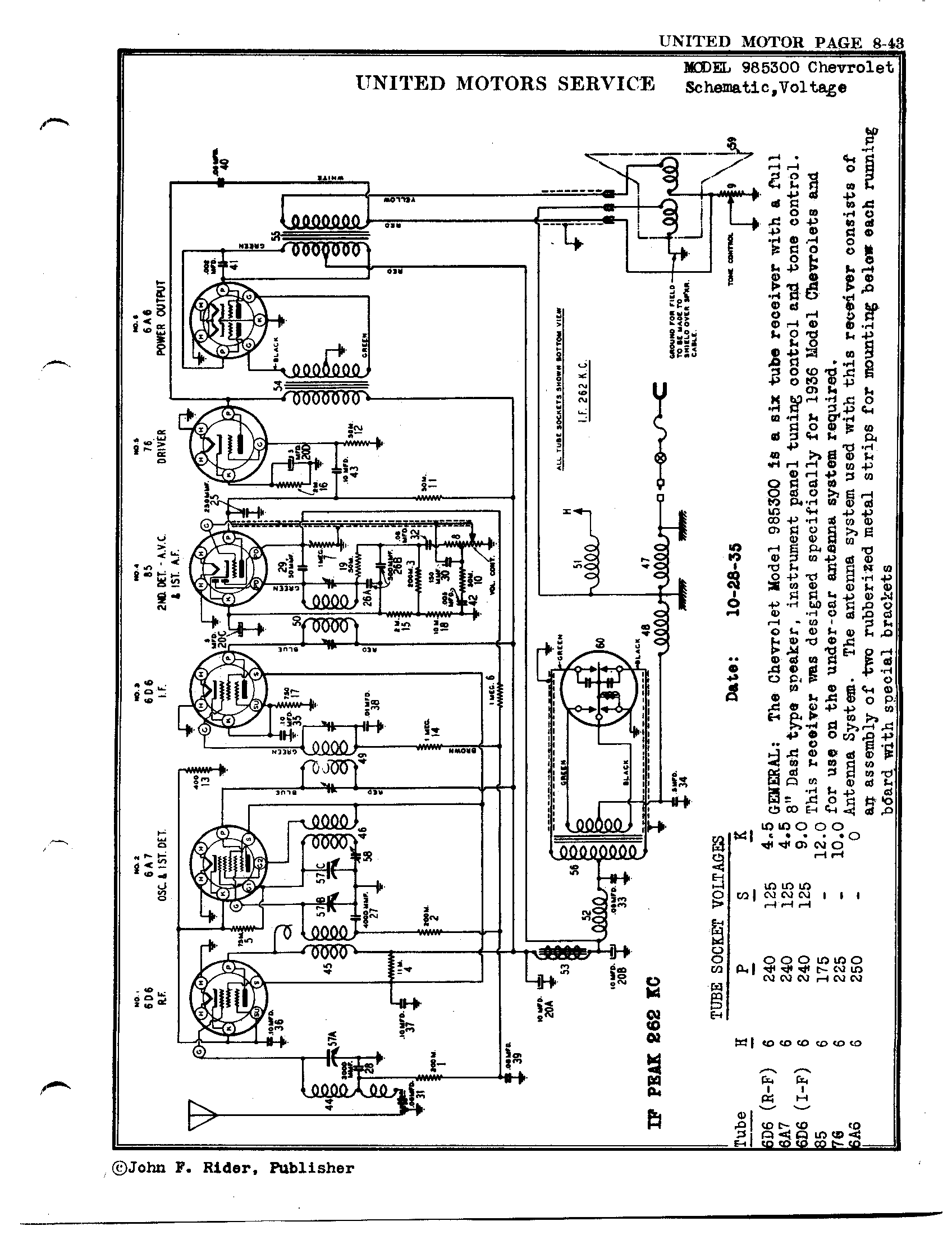 chevrolet 985300