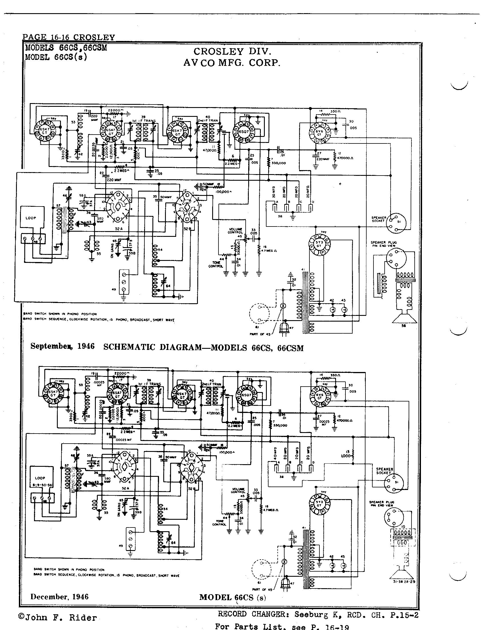 Crosley Corp  66cs