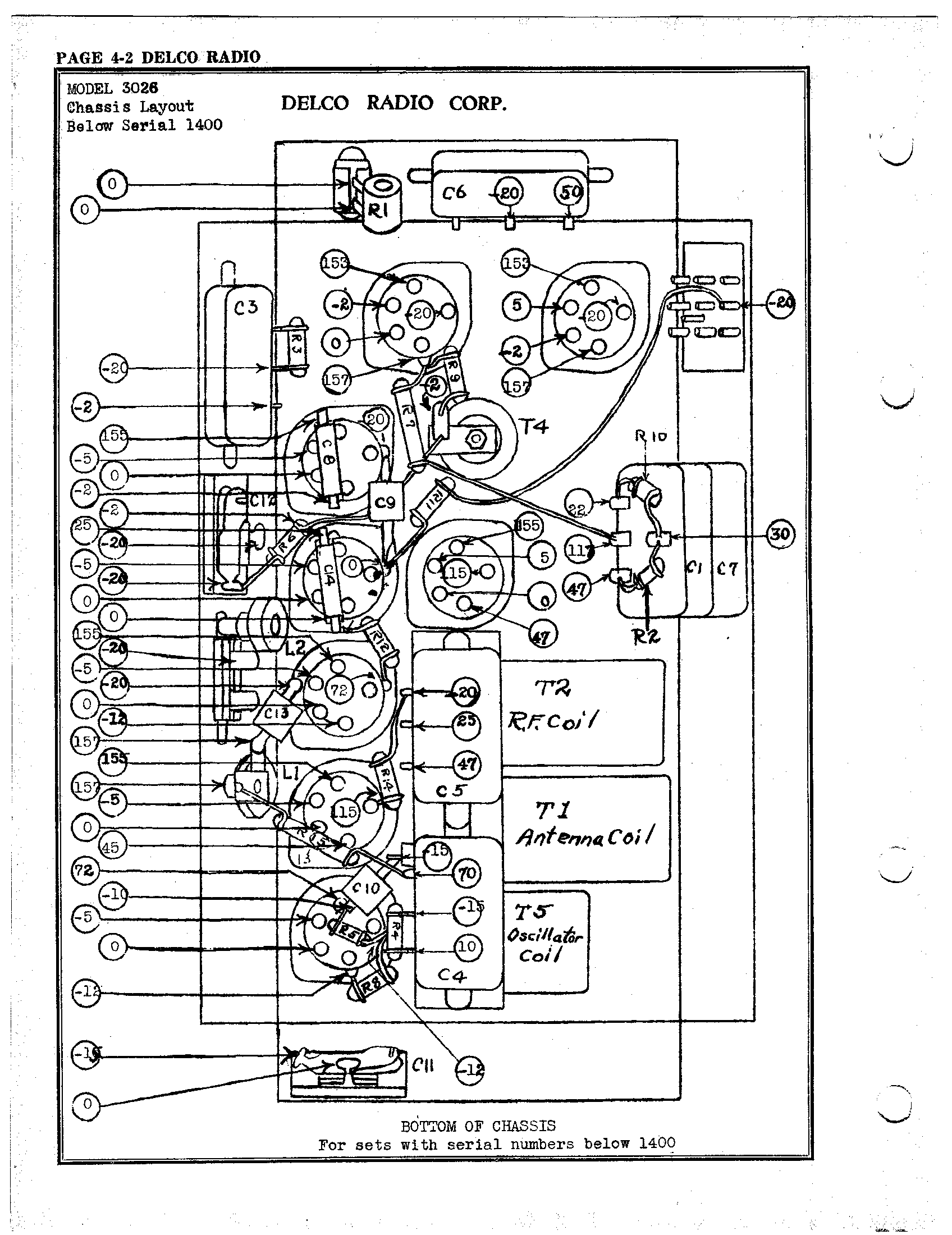 delco model 09354155 wiring diagram delco radio corp. 3026 | antique electronic supply delco voltage regulator wiring diagram