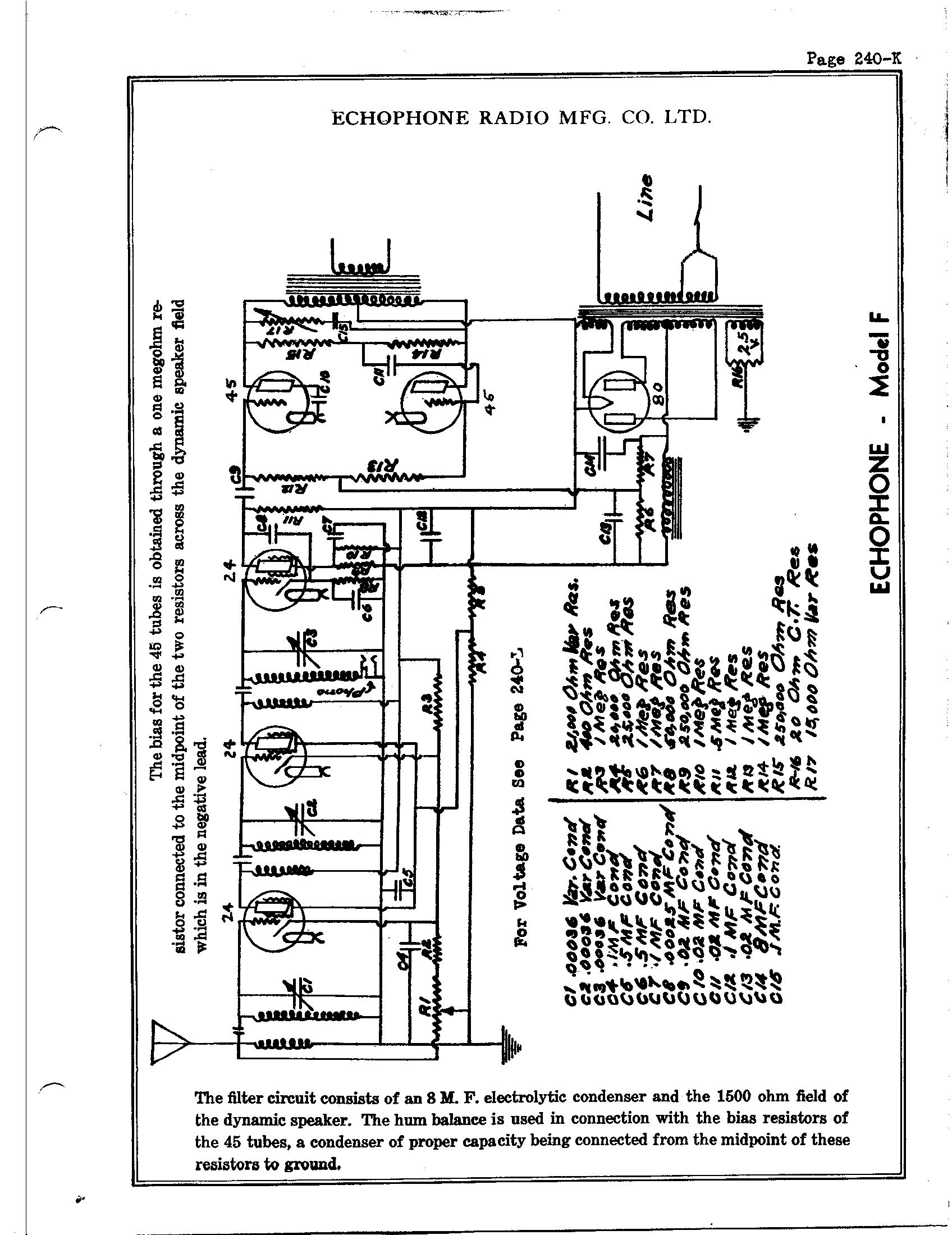 Echophone Radio Corp. F   Antique Electronic Supply on