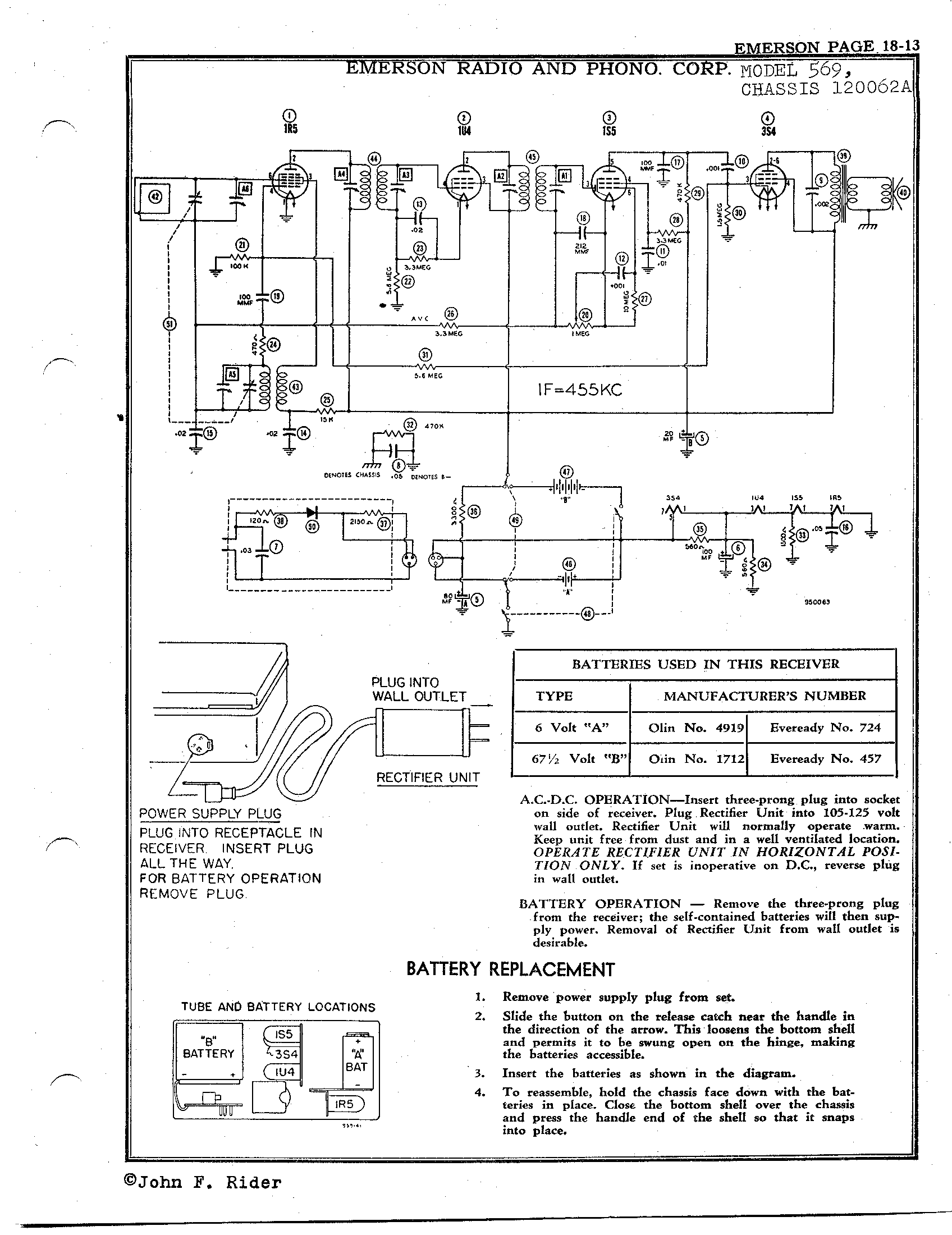 Emerson Radio   Phonograph Corp 569   Antique Electronic