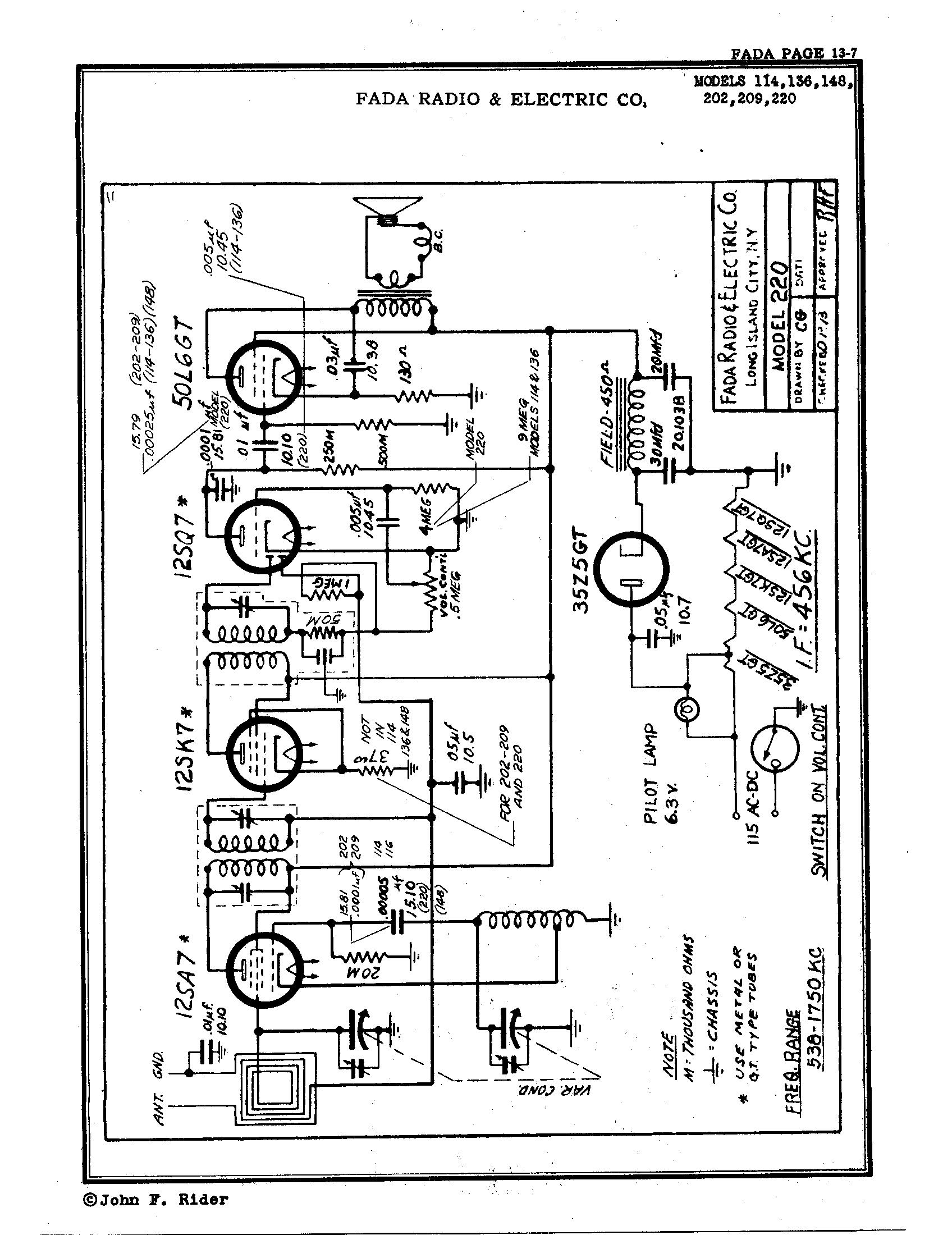 fada radio  u0026 electric co   inc  136