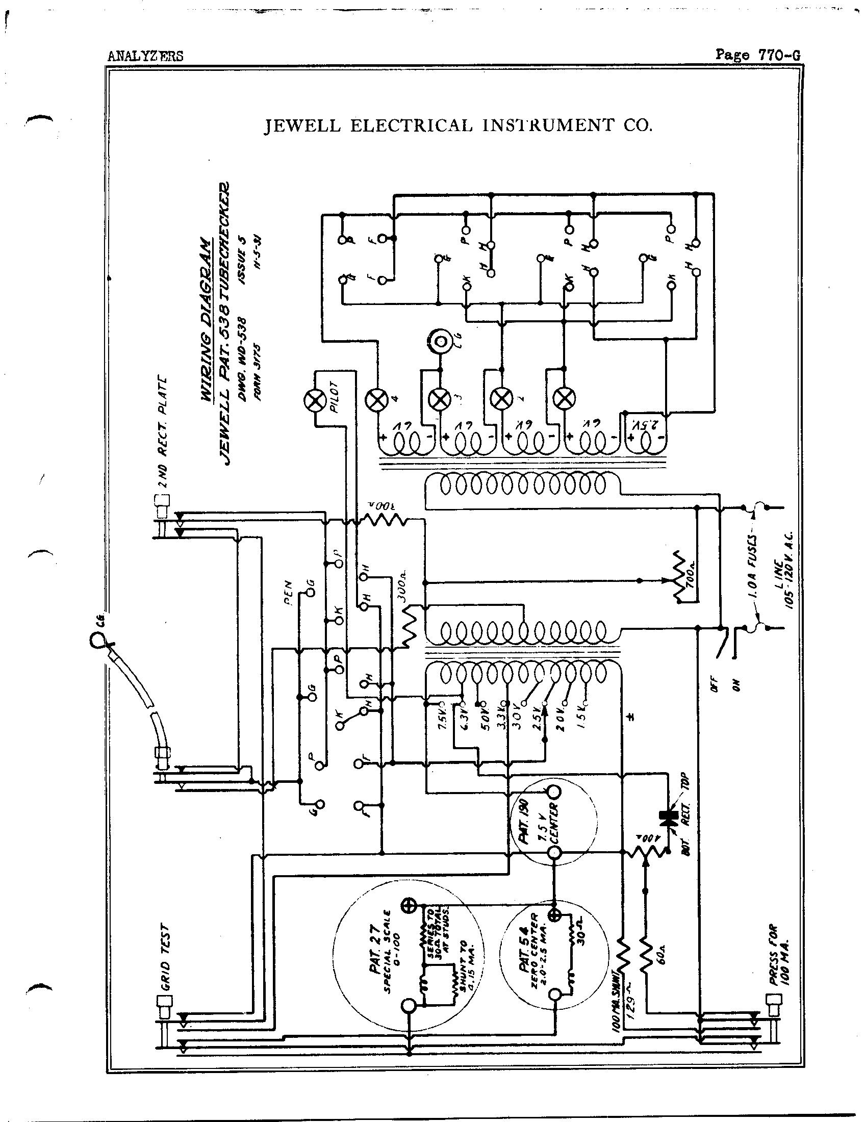 jewel electrical instrument co  pat  538 tubechecker