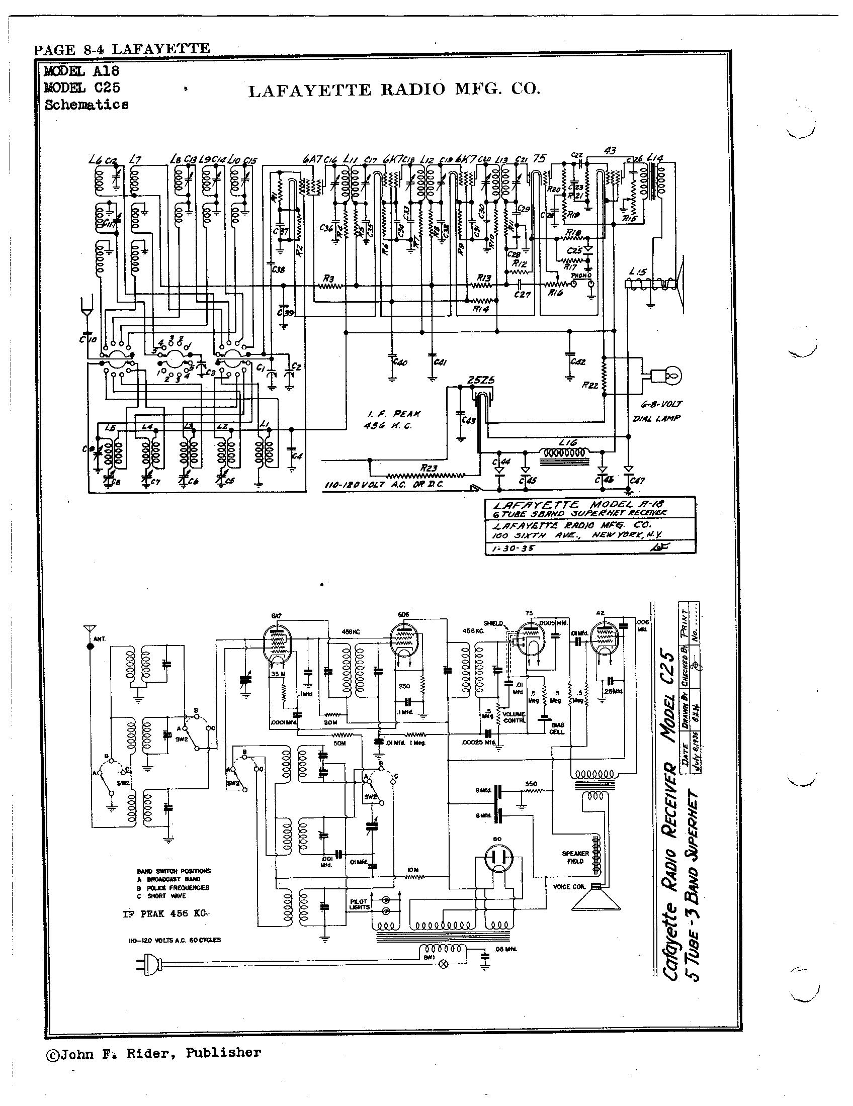 Lafayette Radio Mfg  Co  A18