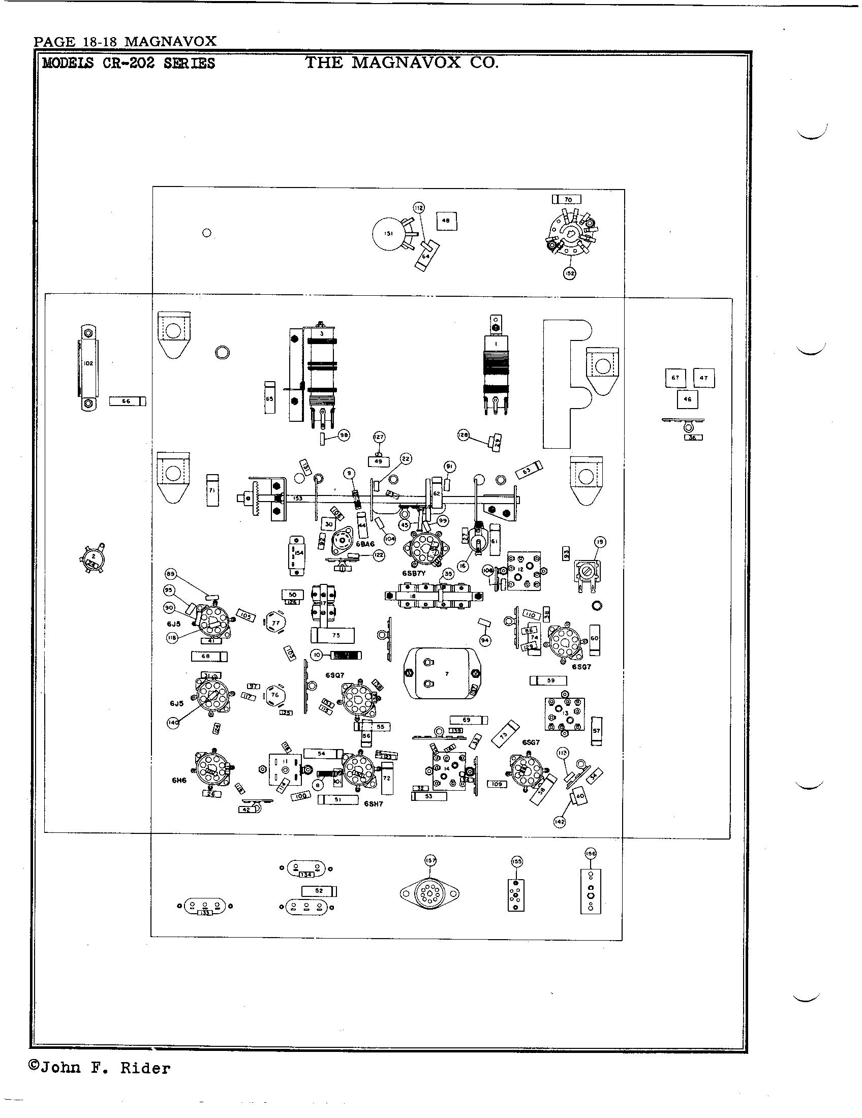 magnavox co cr 202 antique electronic supply 110-Volt Plug Wiring Diagram