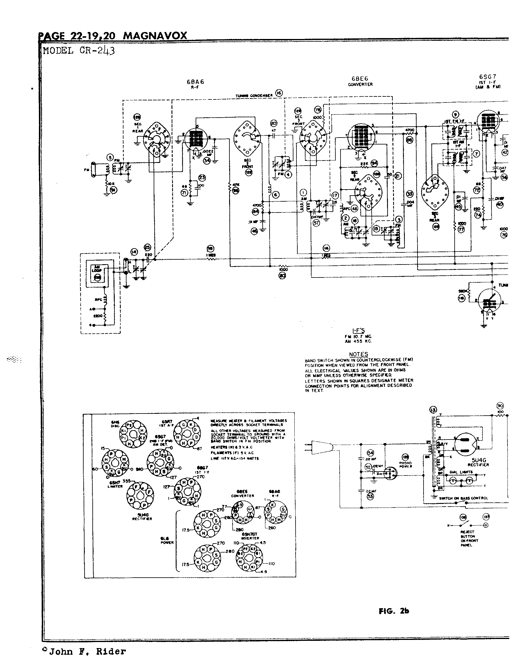 Magnavox Co Cr 243 Antique Electronic Supply Electrical Schematic Letters Page 6 5418 Kb Rider Manual Volume 22
