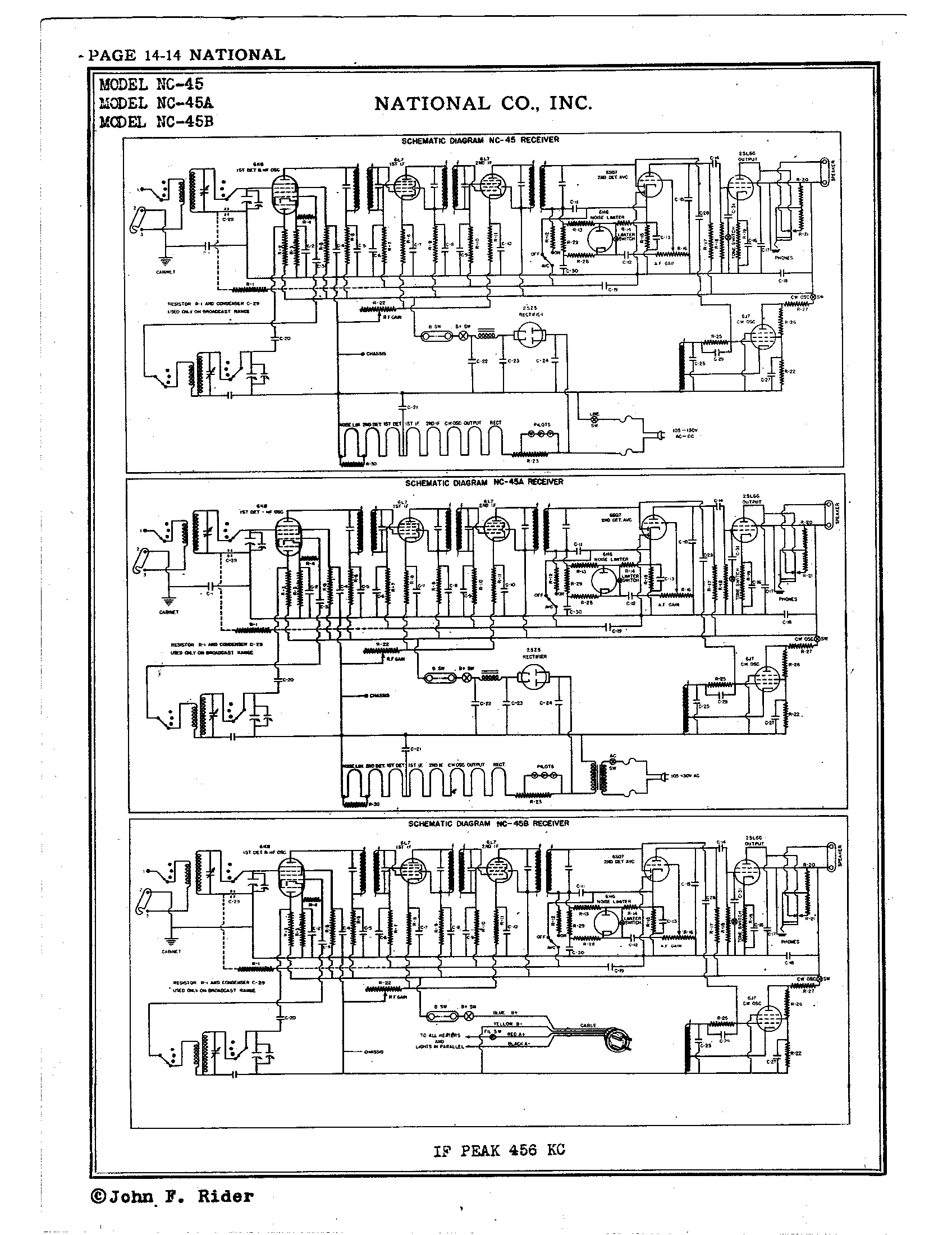 National Co Inc Nc 45 Antique Electronic Supply Circuit Diagram Page 2 6261 Kb Rider Manual Volume 14
