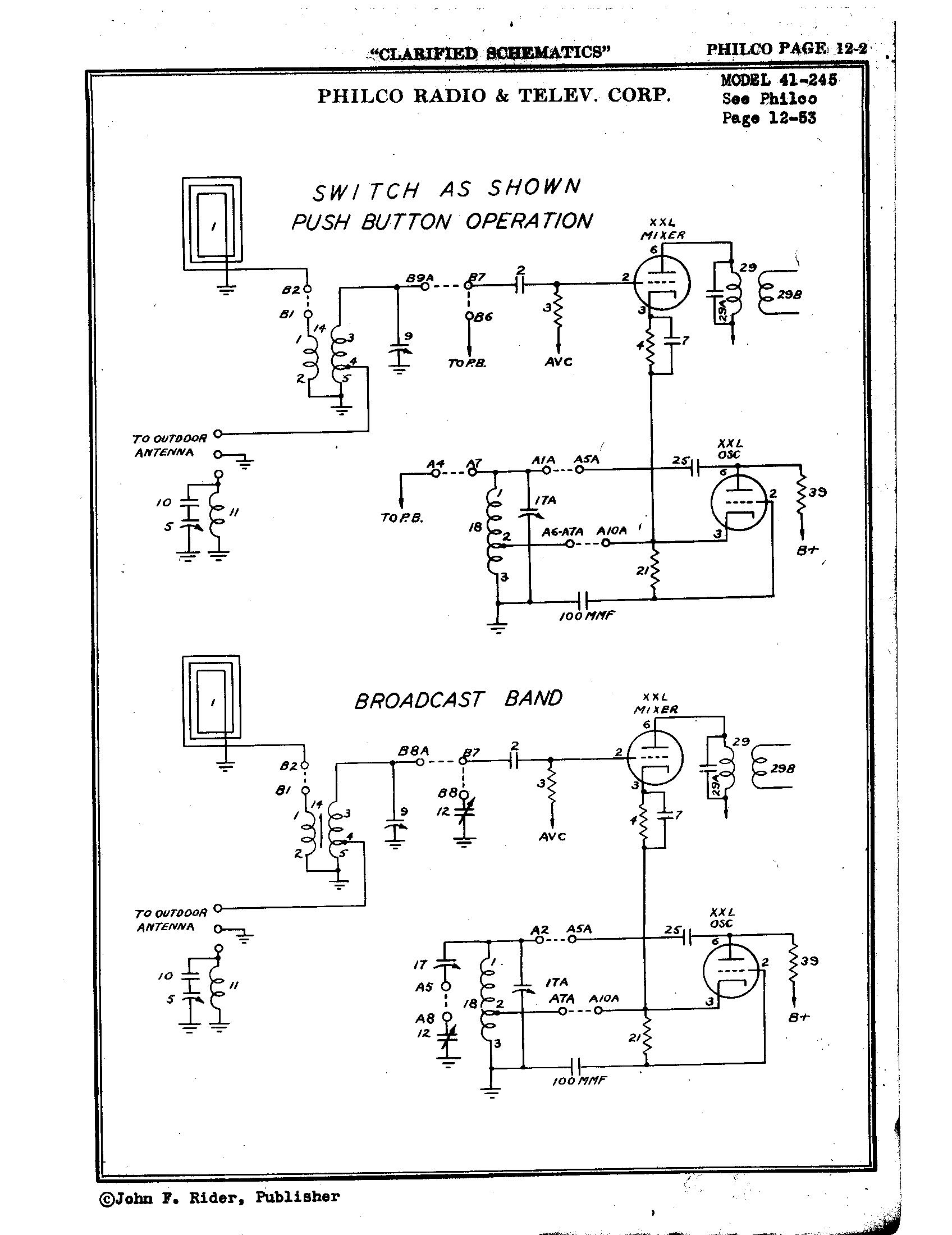 Philco Radio & Television Corp. 41-245 | Antique Electronic Supply on