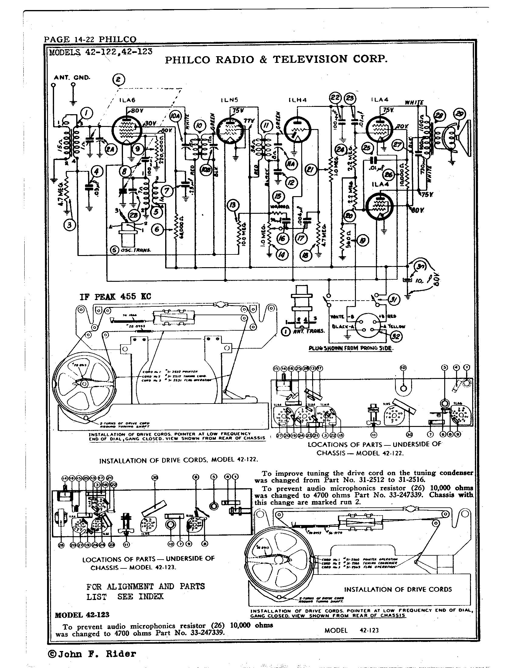 Philco Radio & Television Corp  42-123 | Antique Electronic Supply