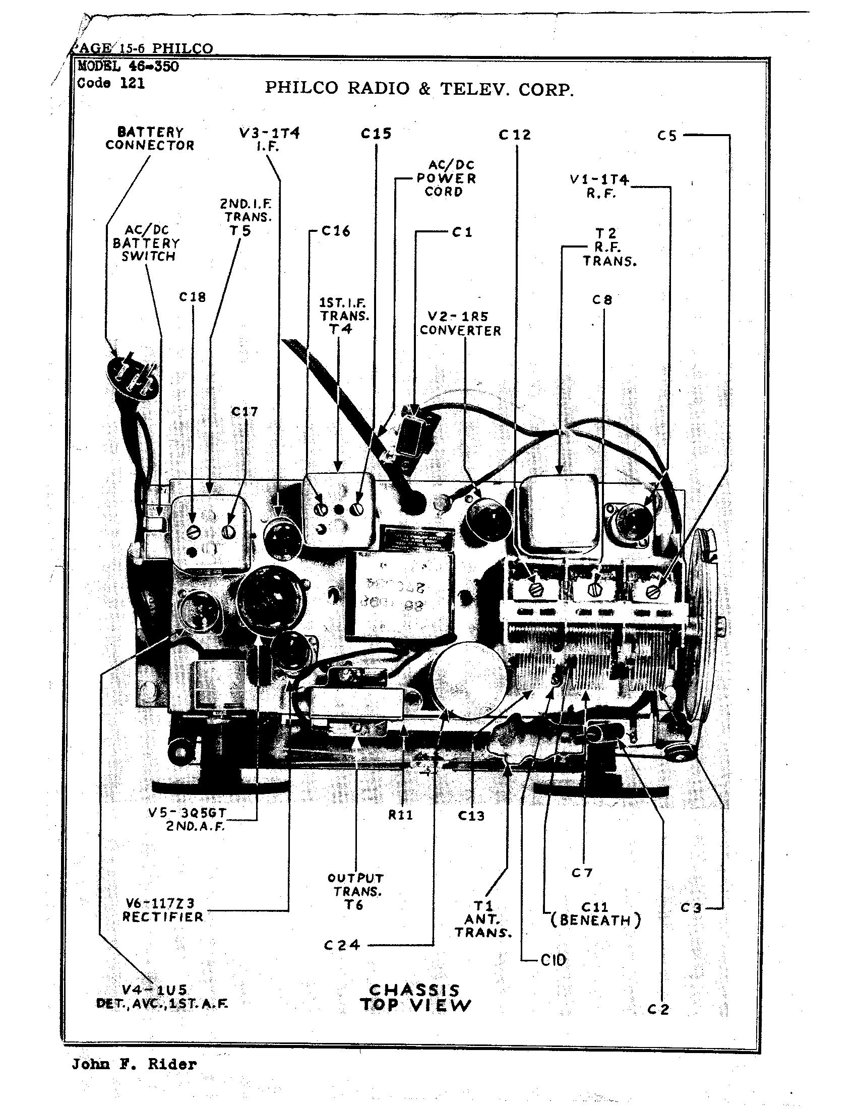 Philco Radio & Television Corp  46-350 (121) | Antique Electronic Supply
