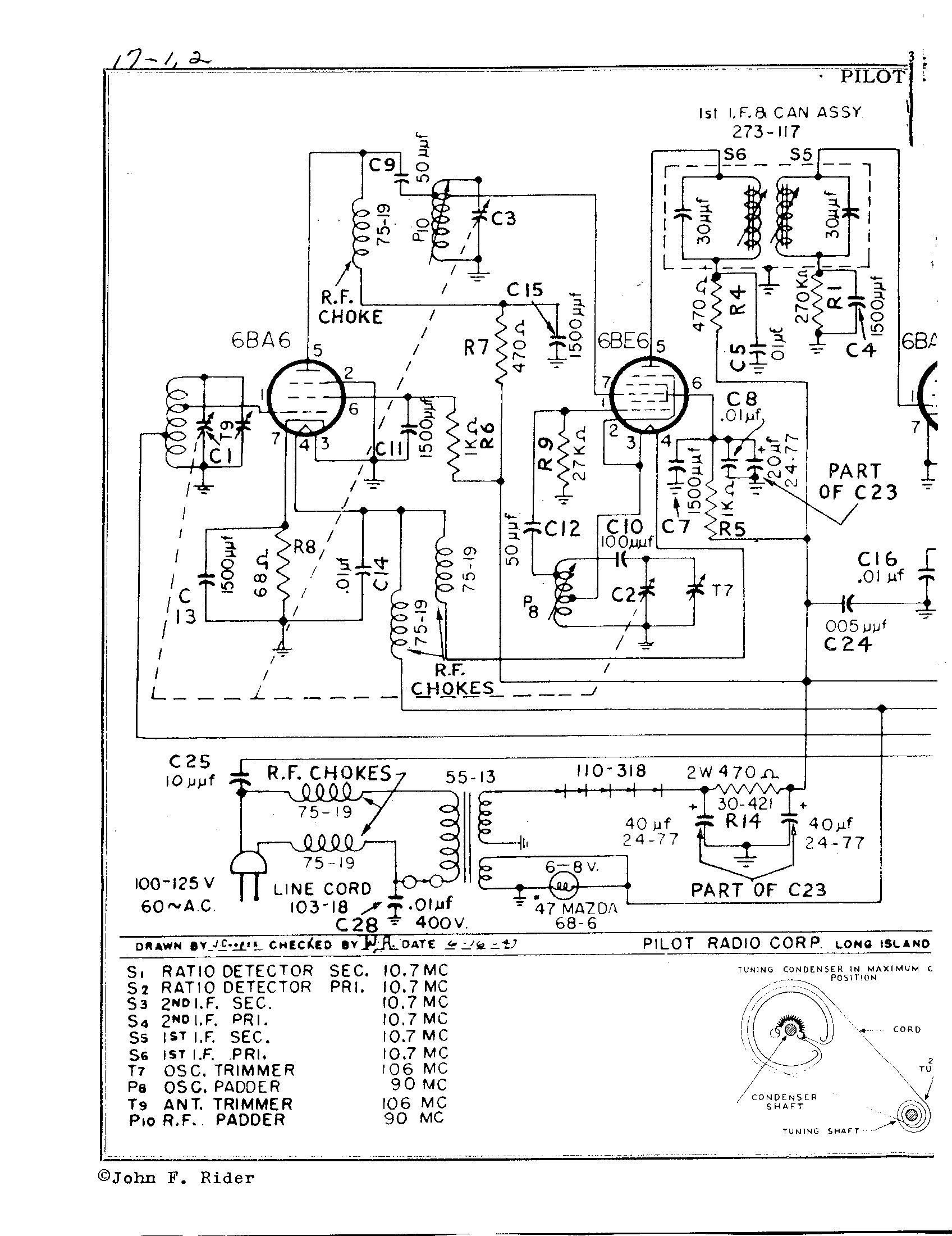 pilot radio corp  t601