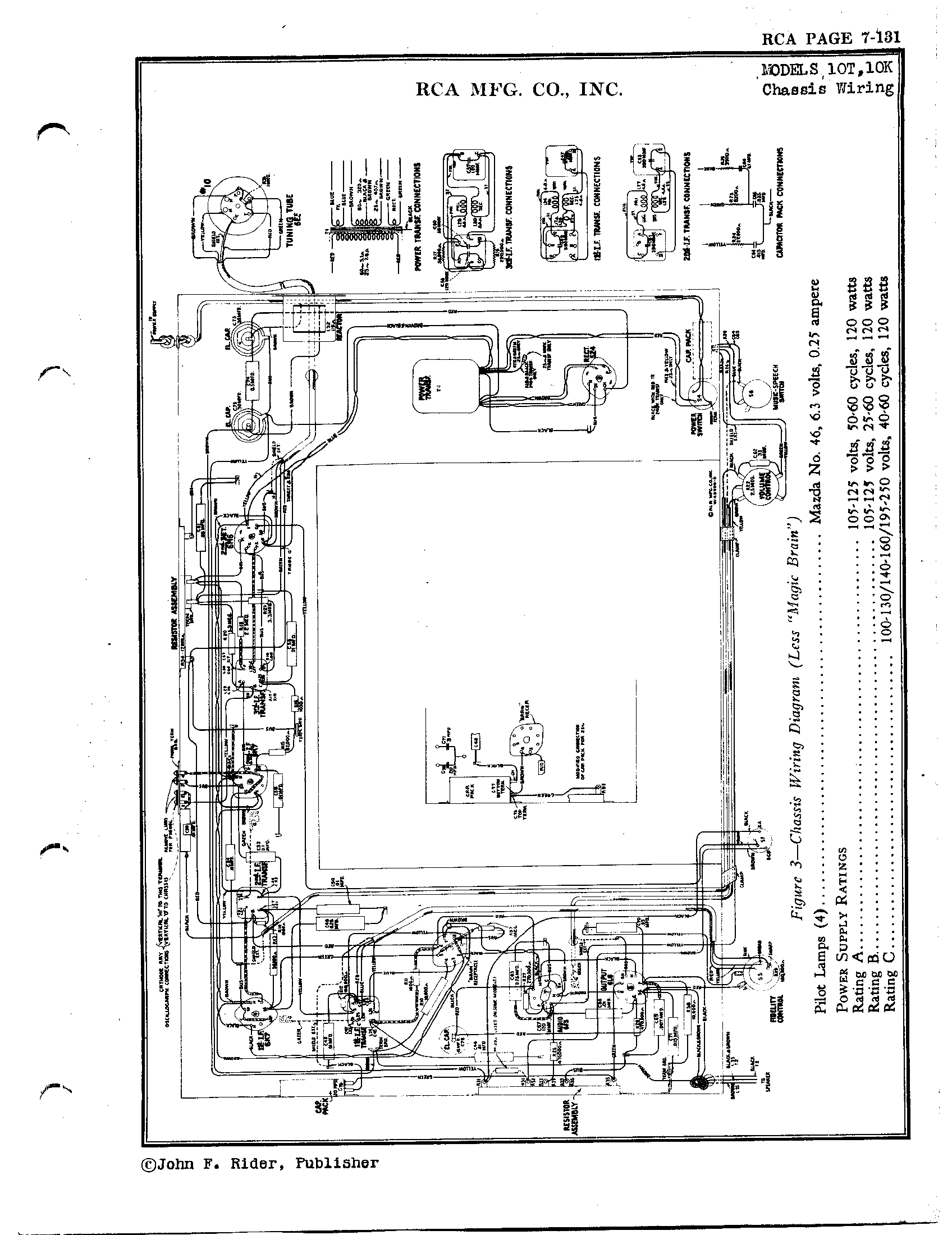 Rca Victor Co Inc 10k Antique Electronic Supply Wiring Diagrams Page 2 6933 Kb Rider Manual Volume 7