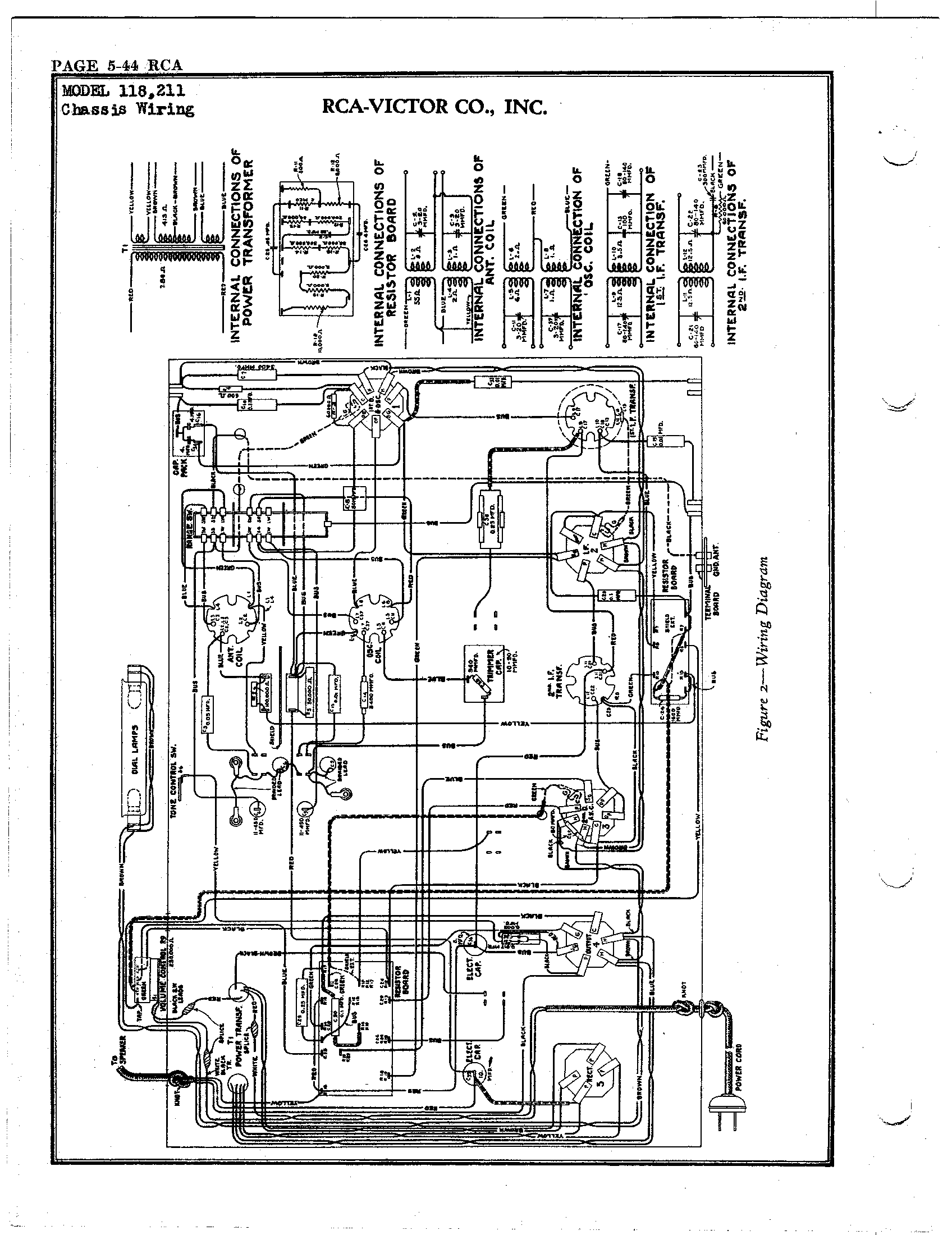rca tv wiring diagram r.c.a. victor co., inc. 221 | antique electronic supply