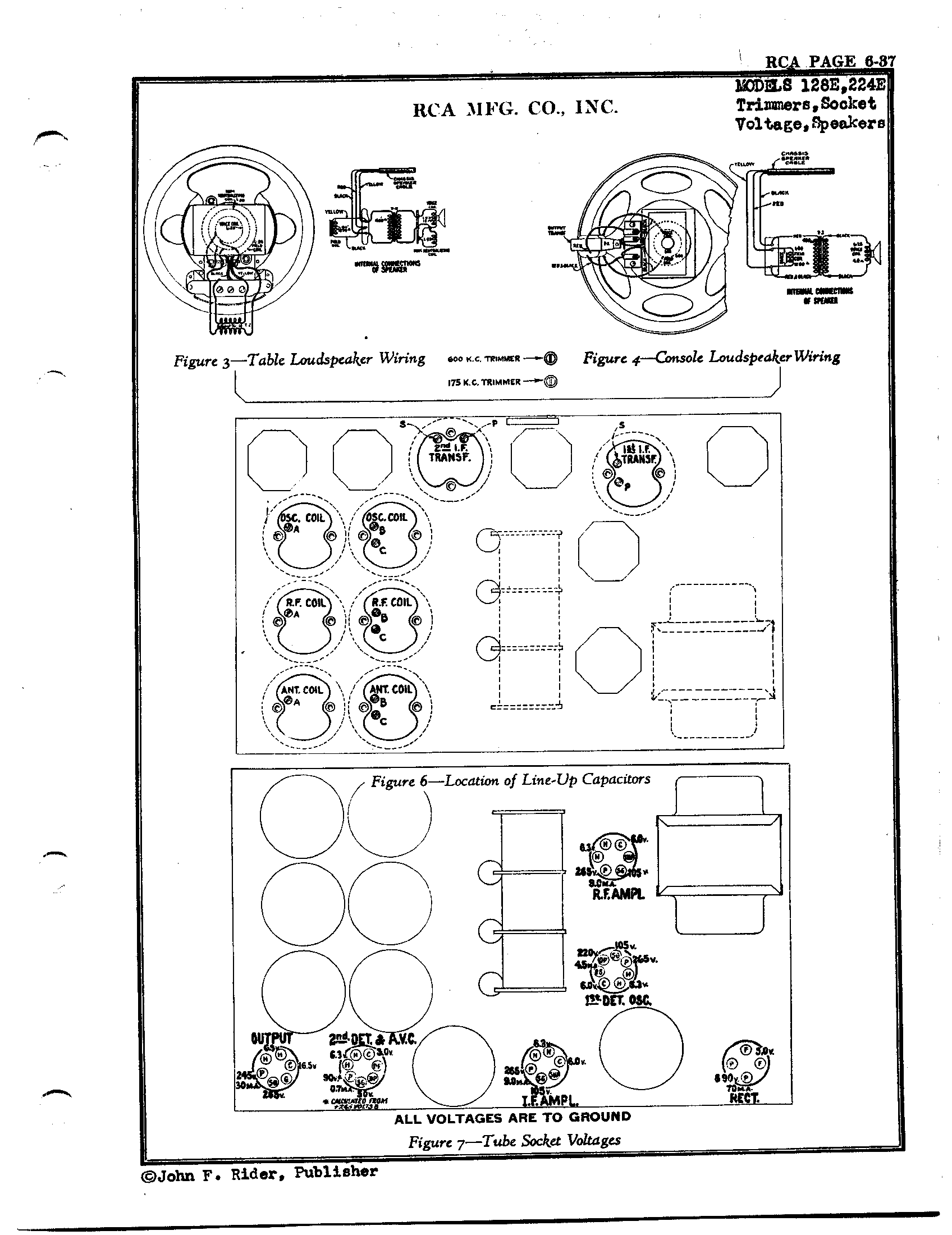 Rca Victor Co Inc 224e Antique Electronic Supply Wiring Capacitors In Series Page 3 5368 Kb Rider Manual Volume 6