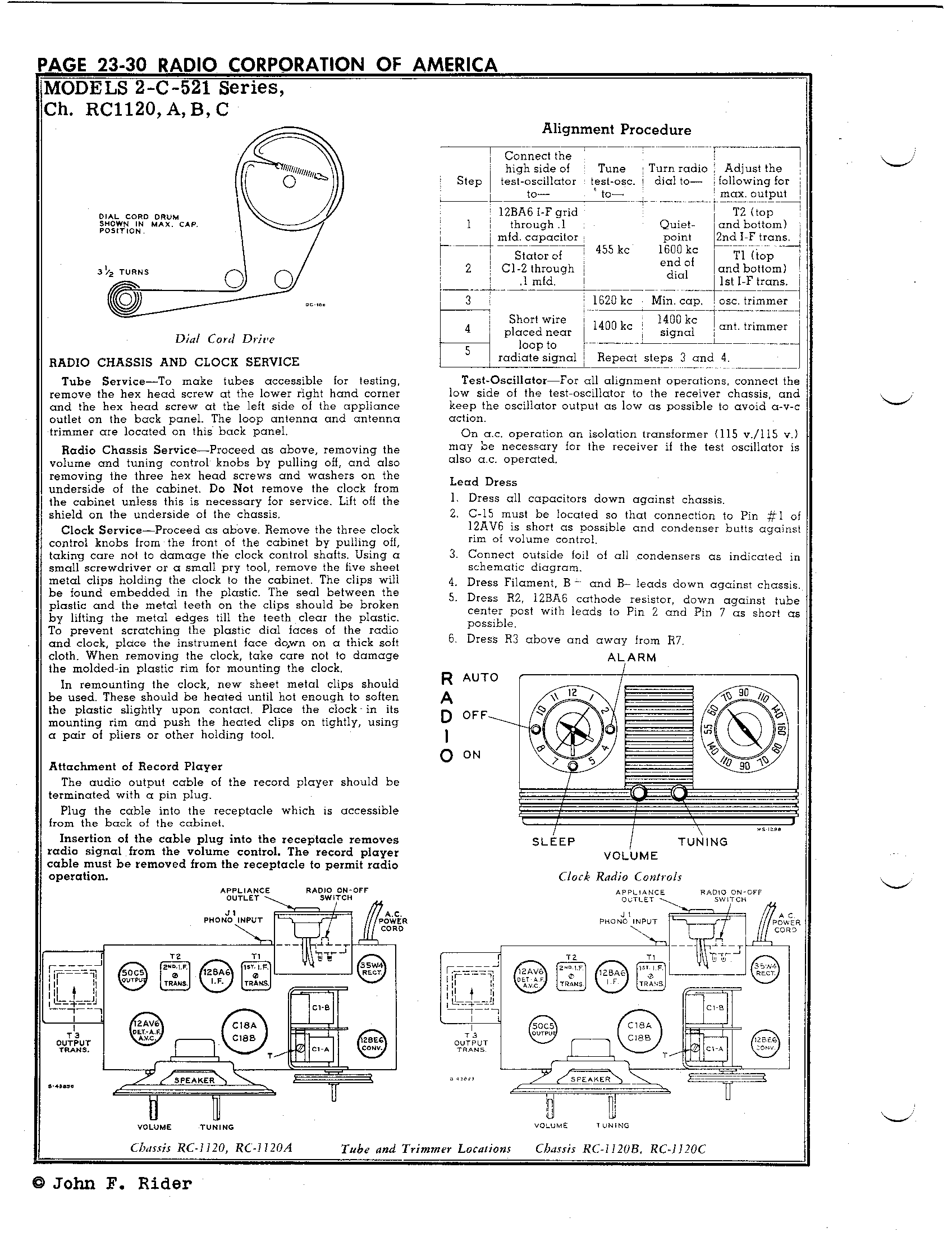 Rca Victor Co Inc 2c521 Antique Electronic Supply Wiring Diagram 1 4in Page 2 7421 Kb Rider Manual Volume 23