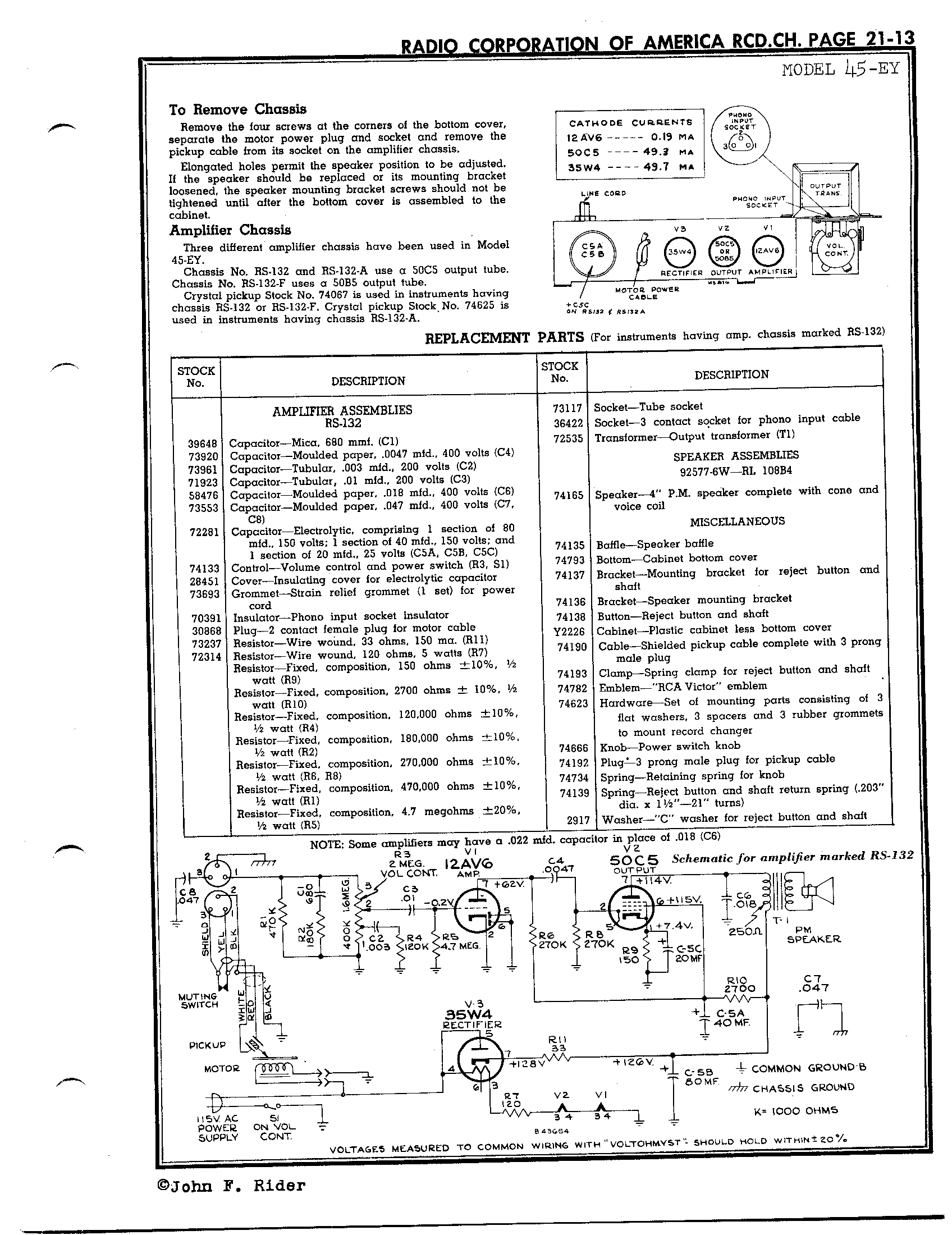 r c a victor co inc 45 ey antique electronic supply radio schematics tahoe radio wiring schematics