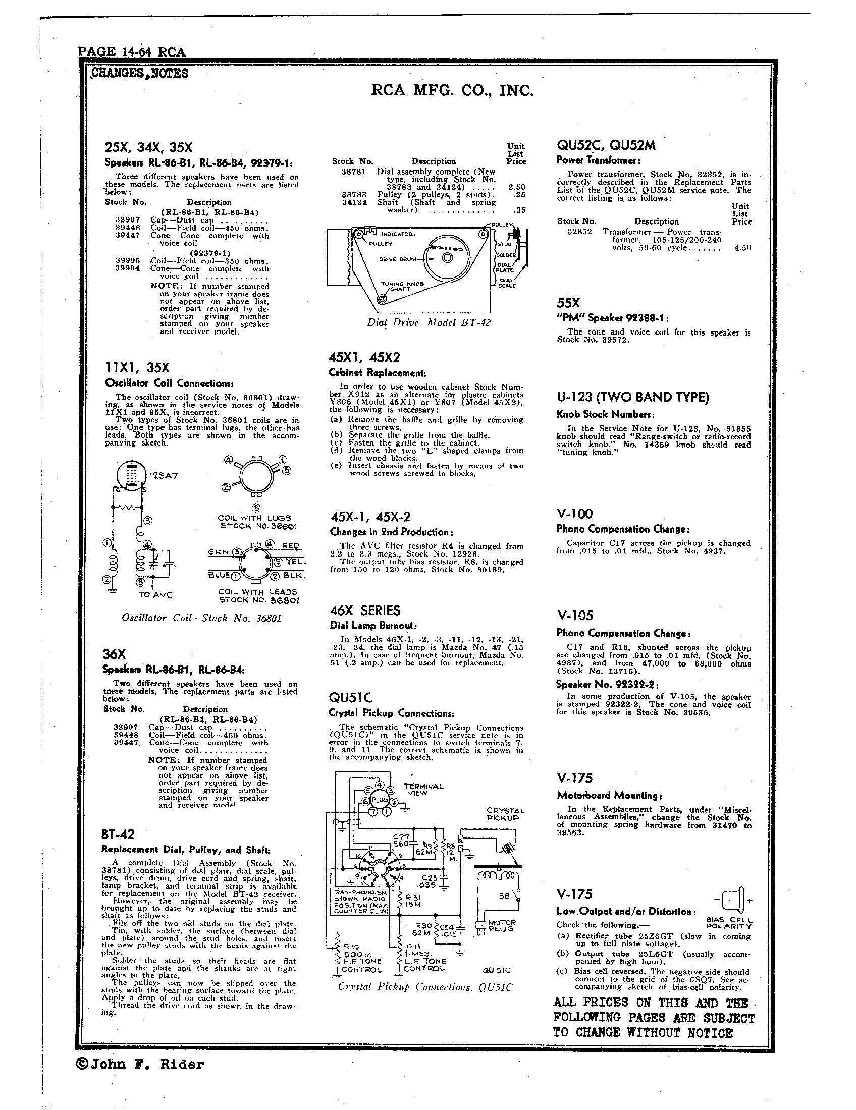 RCA Victor Co., Inc. 55X Schematic