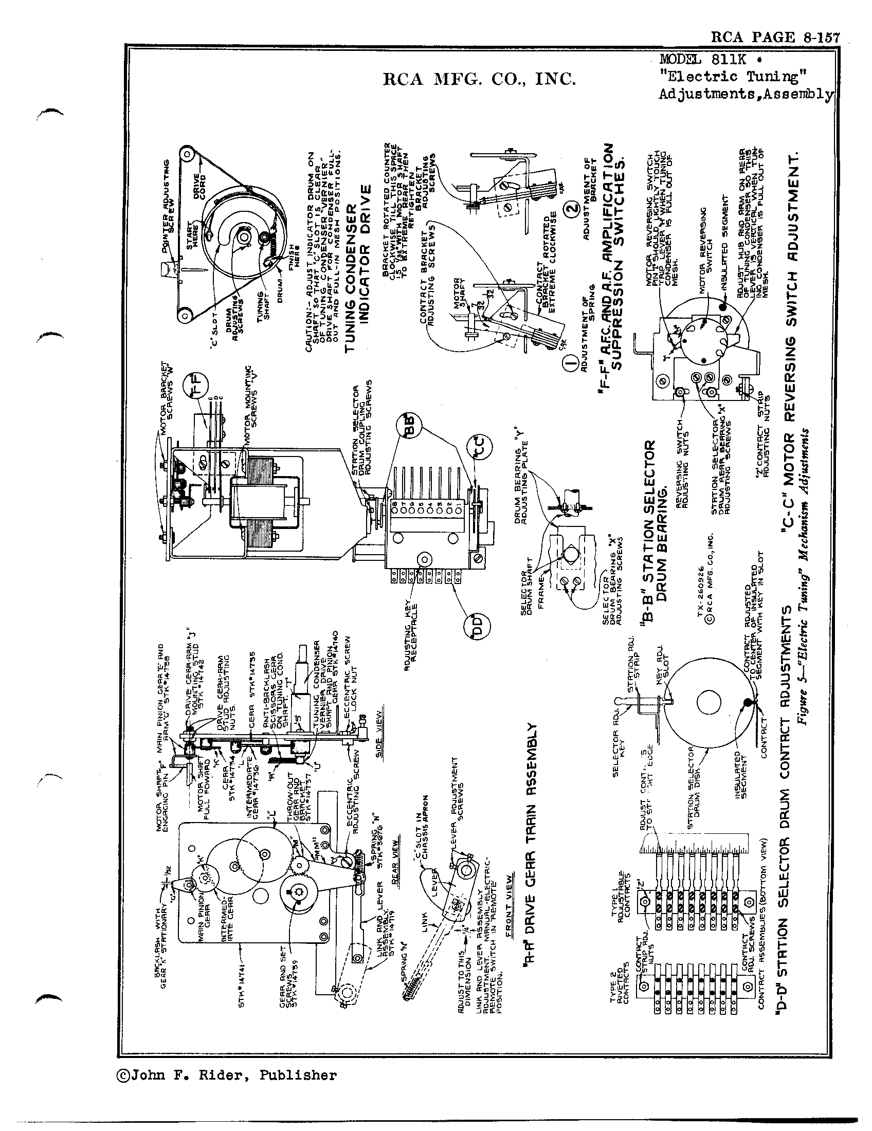 Rca Victor Co Inc 811k Antique Electronic Supply Train Schematics Page 5 7828 Kb Rider Manual Volume 8