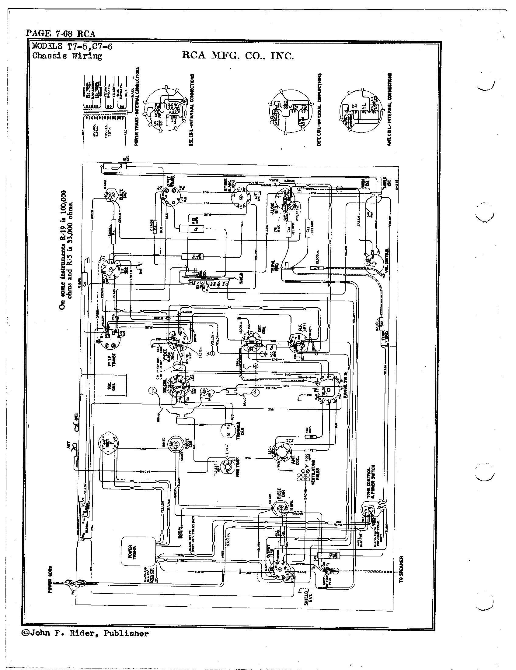 Rca Victor Co Inc C7 6 Antique Electronic Supply Amplifier Circuit Tubeamplifier Audiocircuit Diagram Page 2 6136 Kb Rider Manual Volume 7