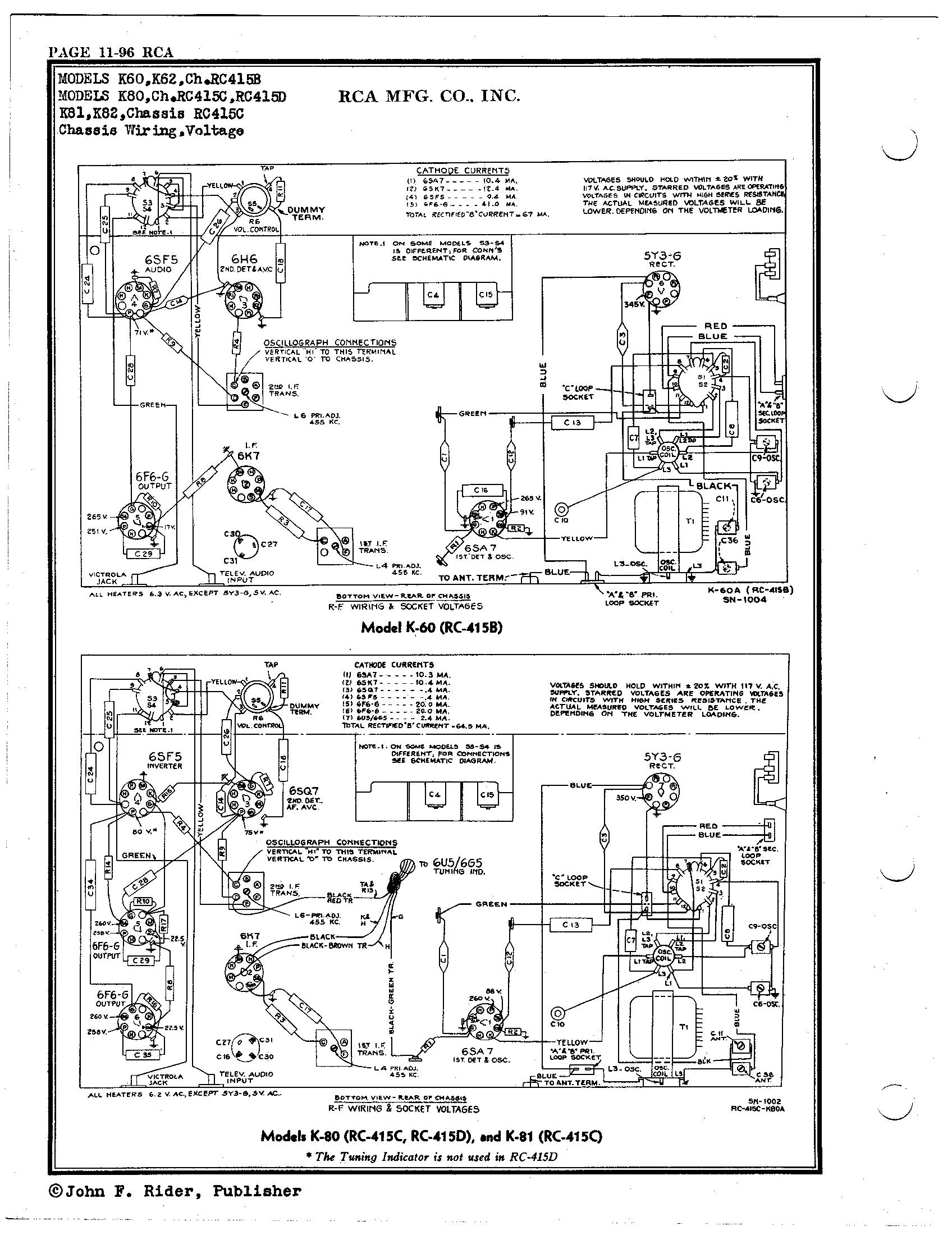 RCA Victor Co., Inc. K80 Schematic