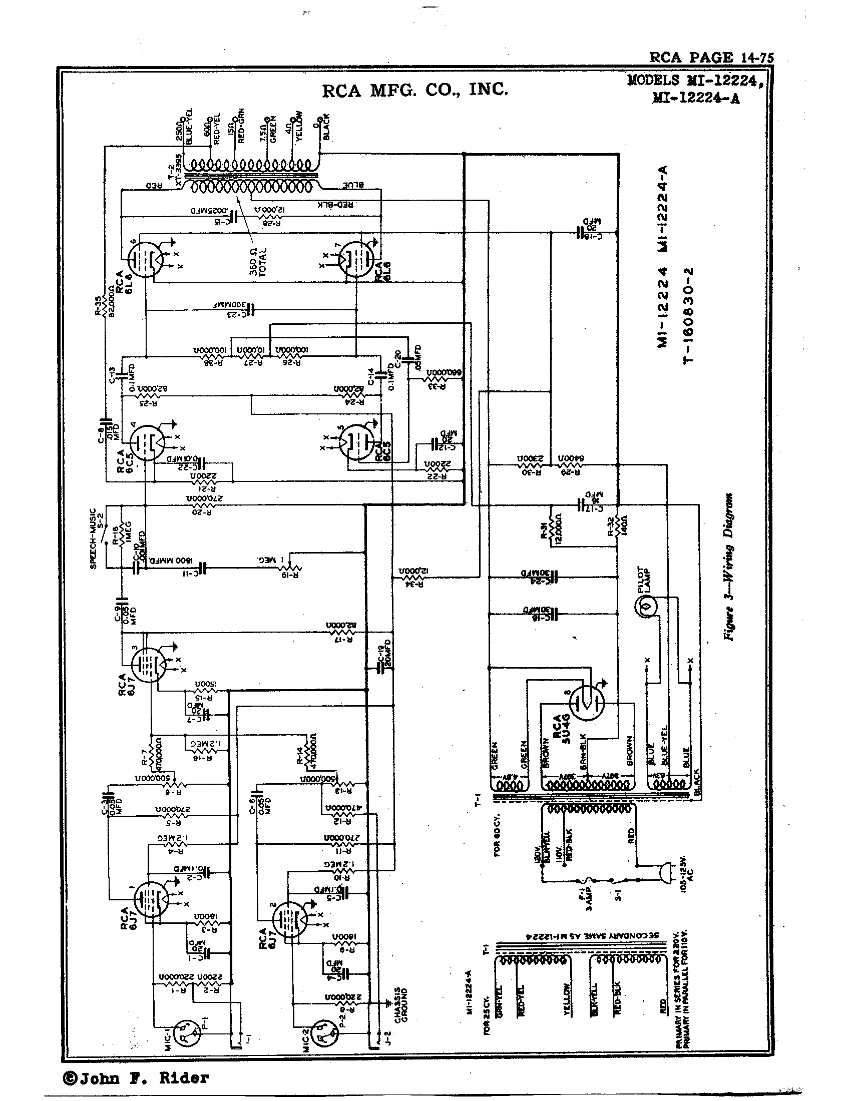 RCA Victor Co., Inc. MI-12224 Schematic on ic schematic diagram, simple schematic diagram, ups battery diagram, layout diagram, template diagram, a schematic drawing, as is to be diagram, a schematic circuit, circuit diagram,
