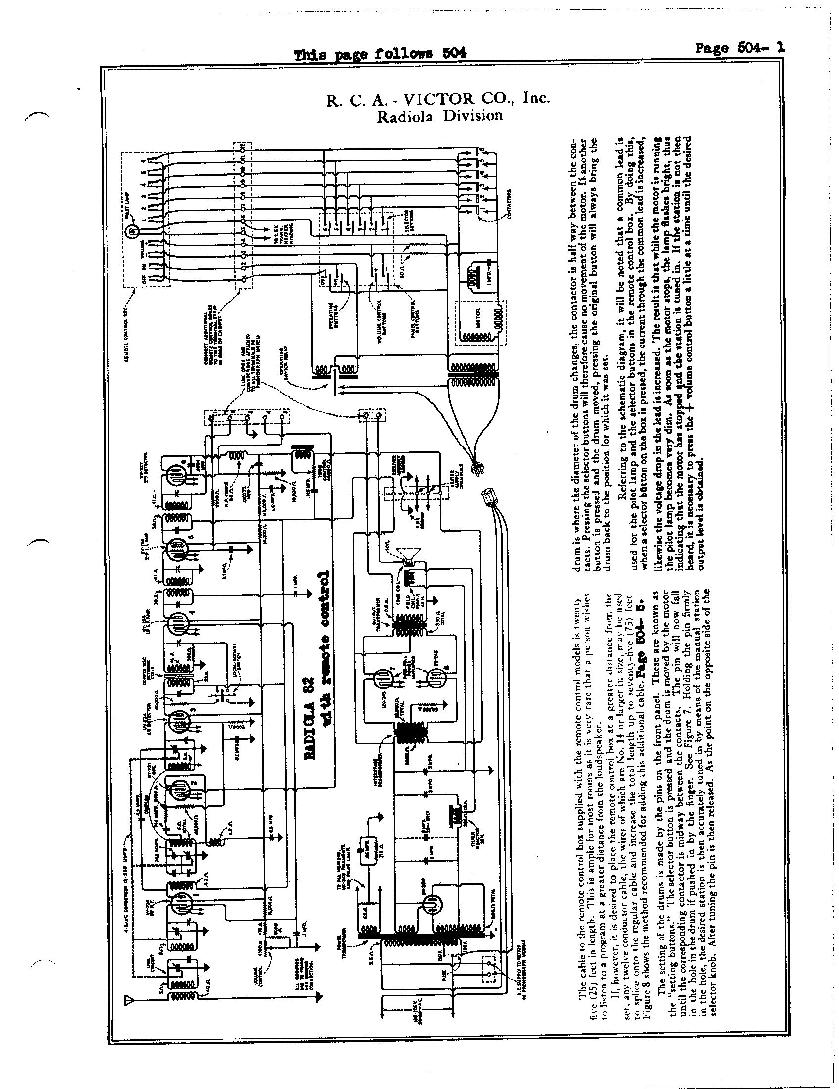 Diagram R C A Victor Co Inc Radiola 82