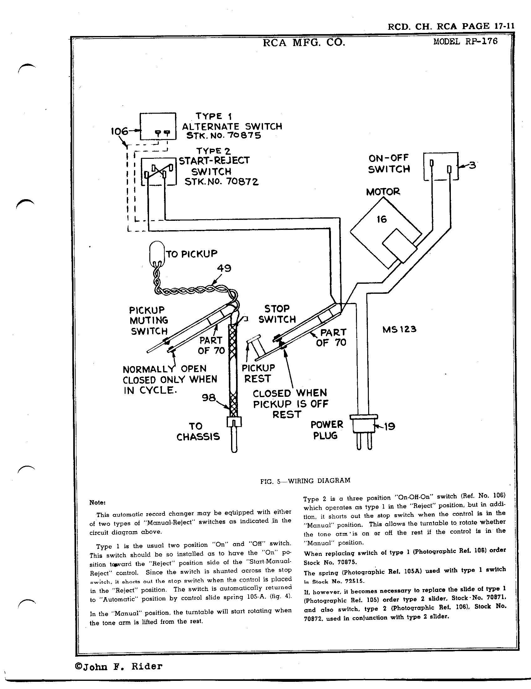 Rca Victor Co Inc Rp 176 Antique Electronic Supply Turntable Wiring Diagram Page 13 4578 Kb Rider Manual Volume 17
