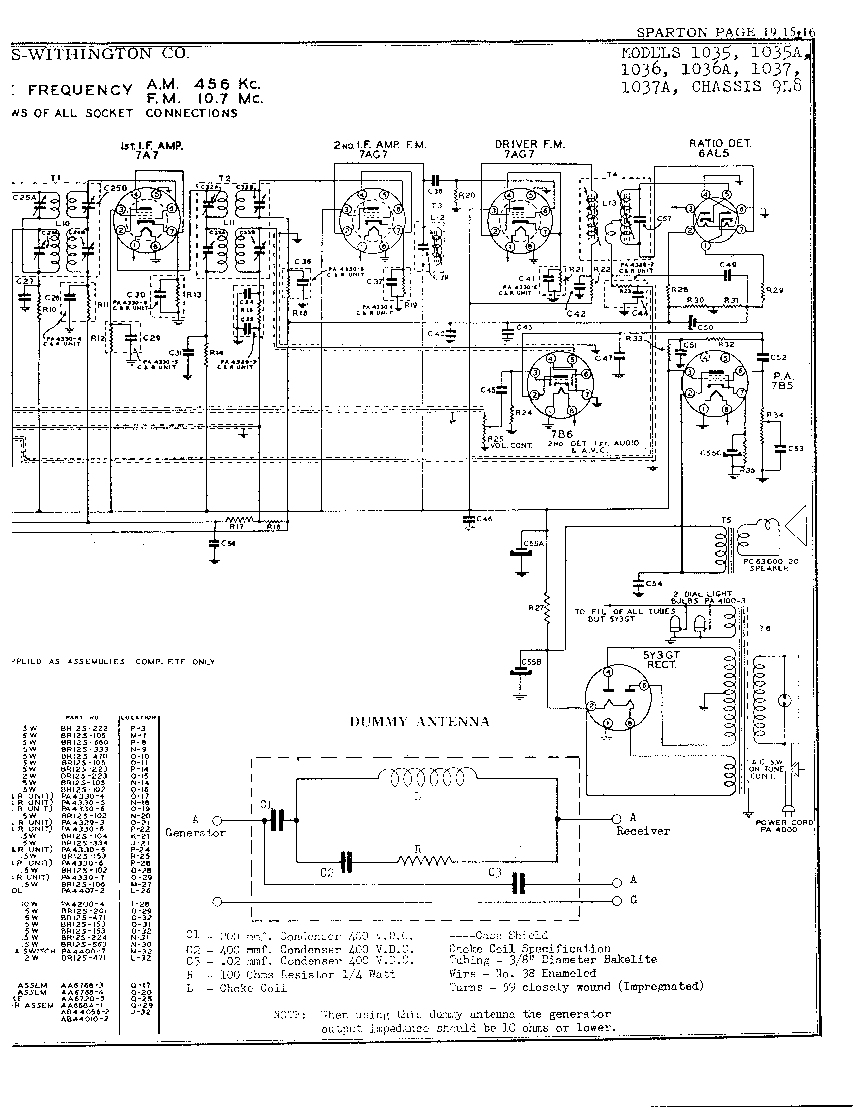 Sparks Withington Co 1036 Antique Electronic Supply Pa 200 Wiring Diagram Page 3 6479 Kb Rider Manual Volume 19