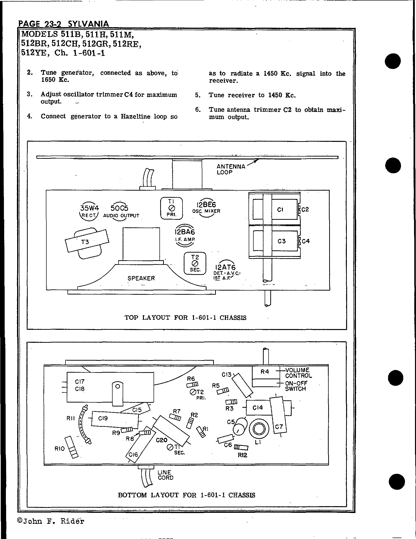 Sylvania Electric Products 511b Antique Electronic Supply. Page 2 383 Kb Rider Manual Volume 23. Wiring. Sylvania Tube Radio Schematics At Scoala.co