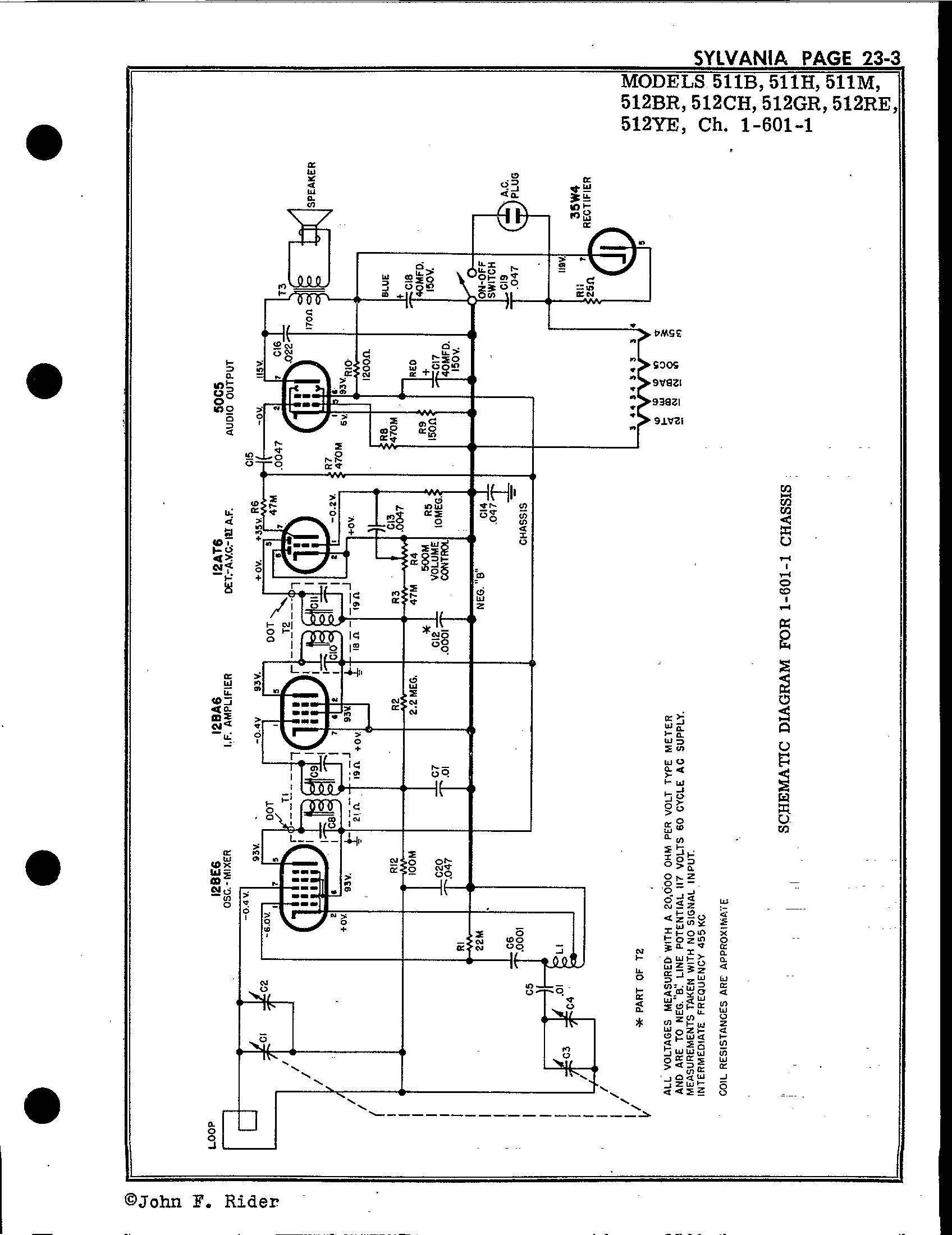 Sylvania Electric Products 511b Antique Electronic Supply. Page 3 4001 Kb Rider Manual Volume 23. Wiring. Sylvania Tube Radio Schematics At Scoala.co